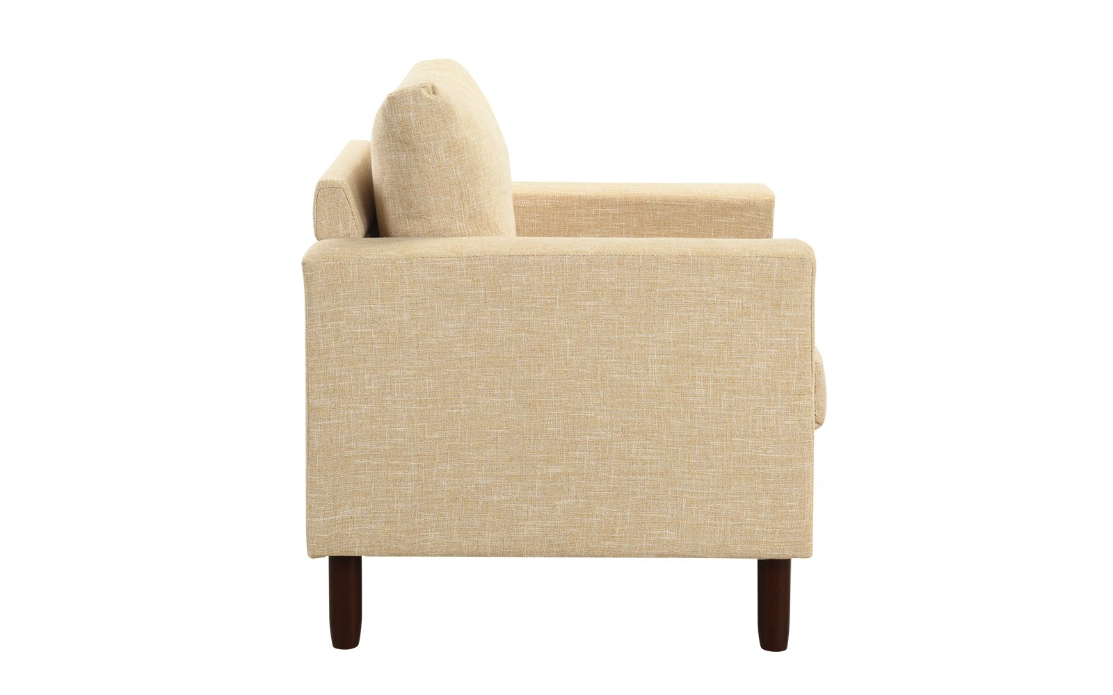 Details About Modern Tufted Linen Fabric Arm Chair Classic Living Room Accent Chair Dark Grey