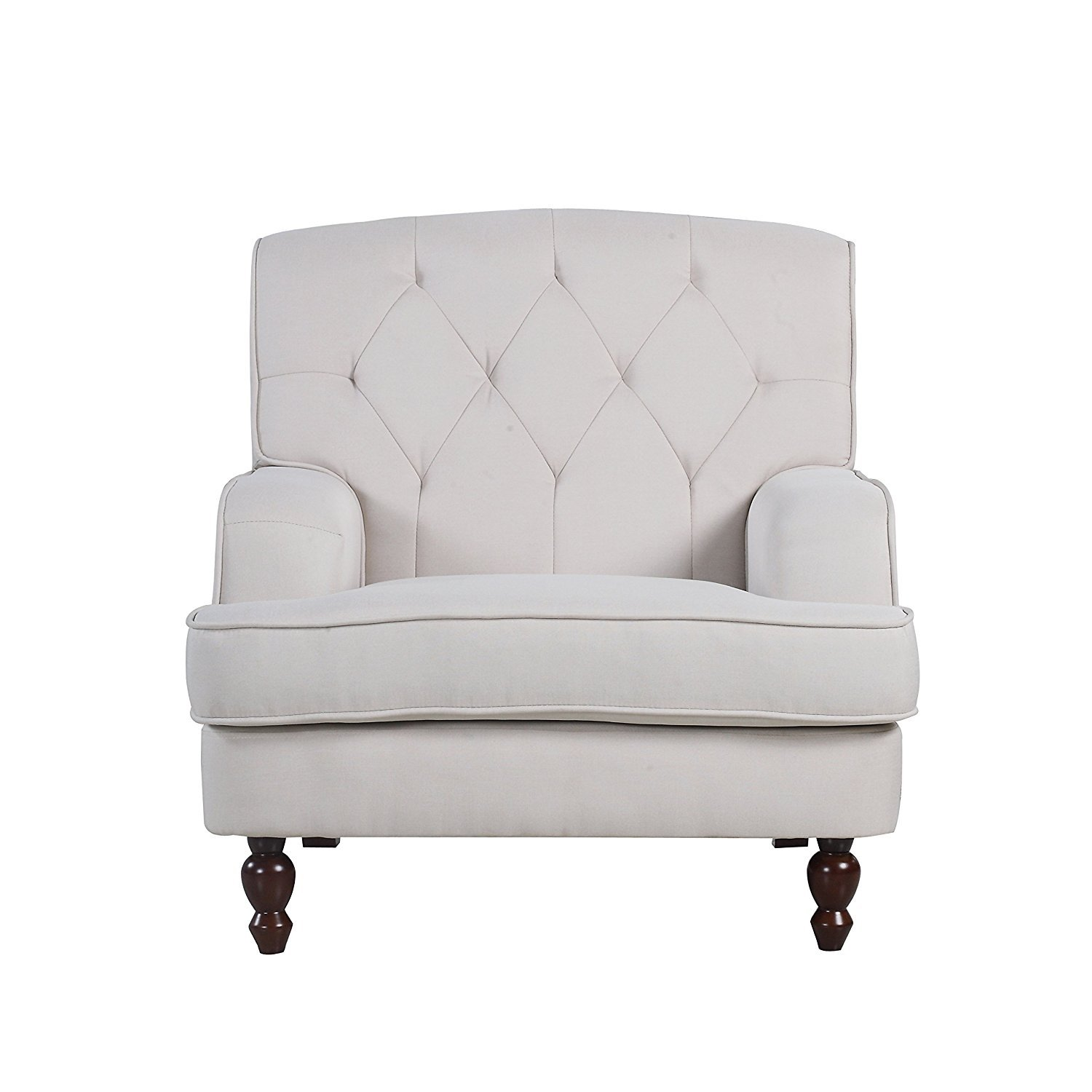 Details About Modern Tufted Fabric Living Room Armchair Beige