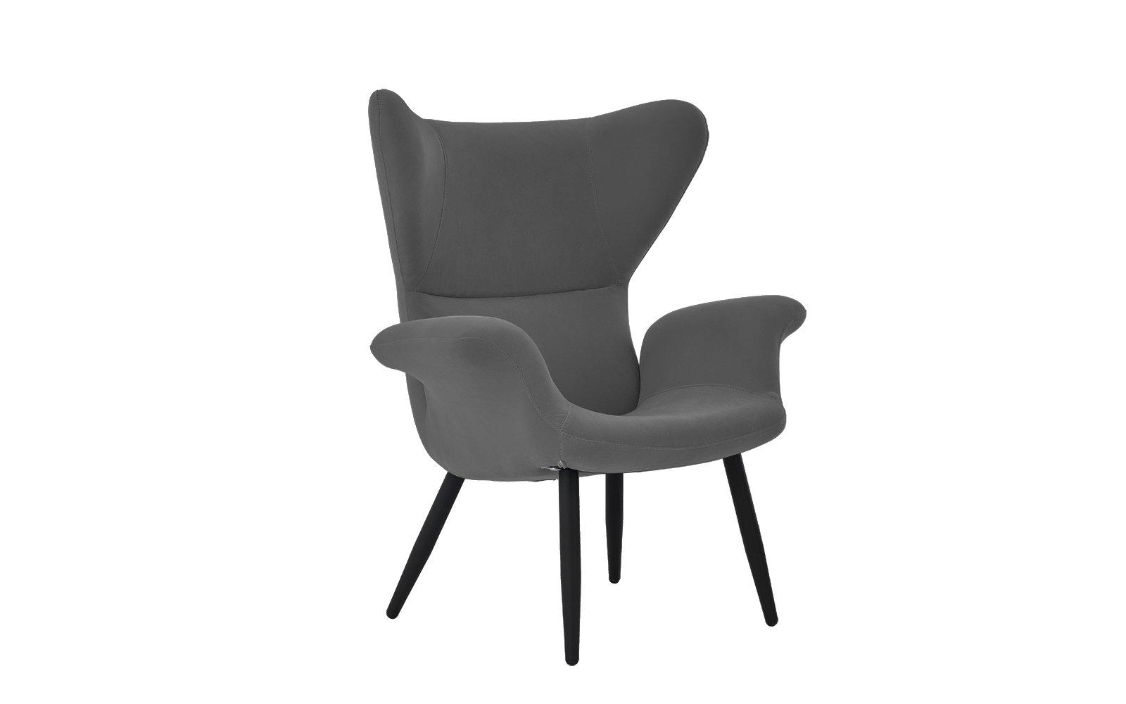Contemporary Velvet Accent Armchair, Futuristic Style ...
