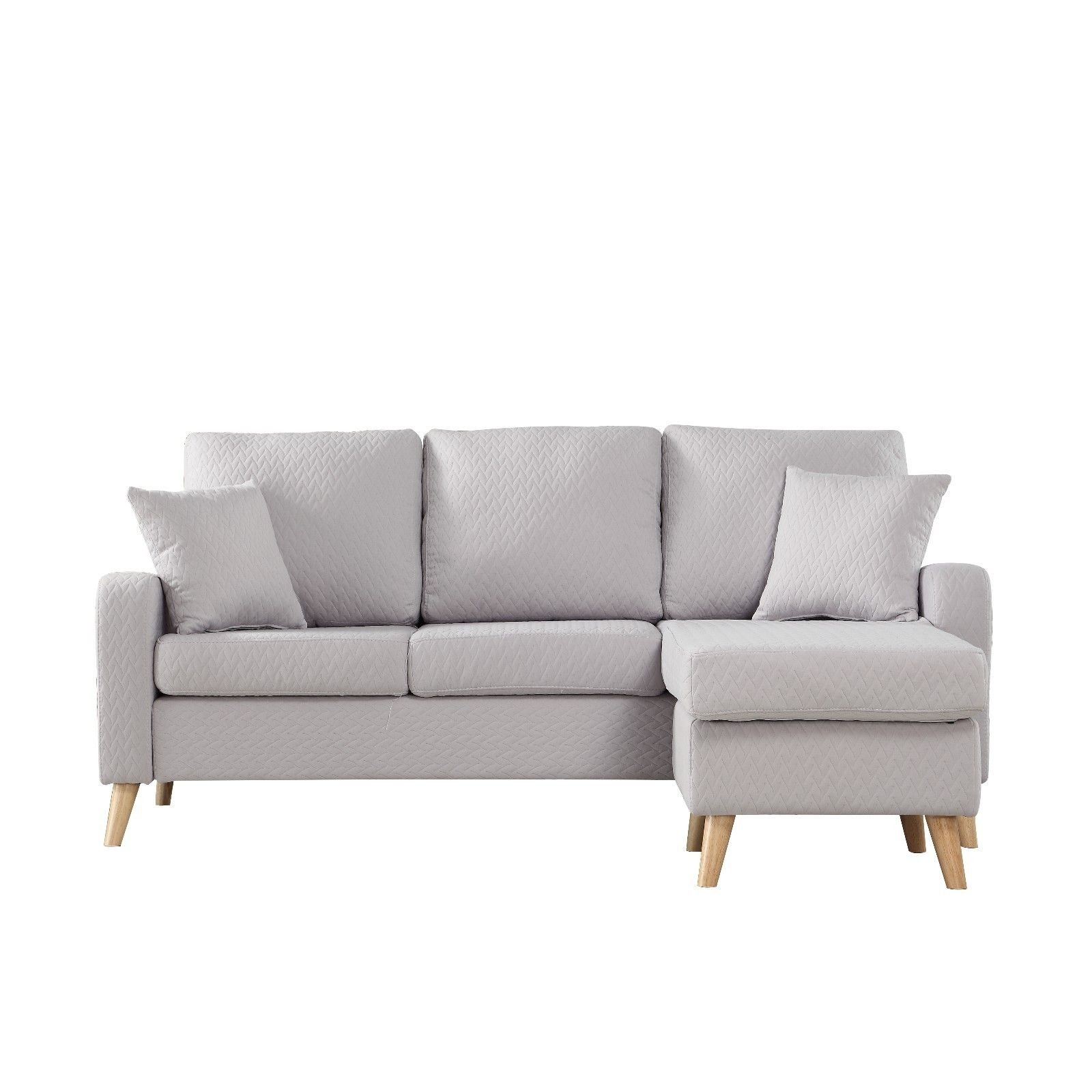 Modern Furniture Small Space Sectional Sofa with Reversible Chaise ...
