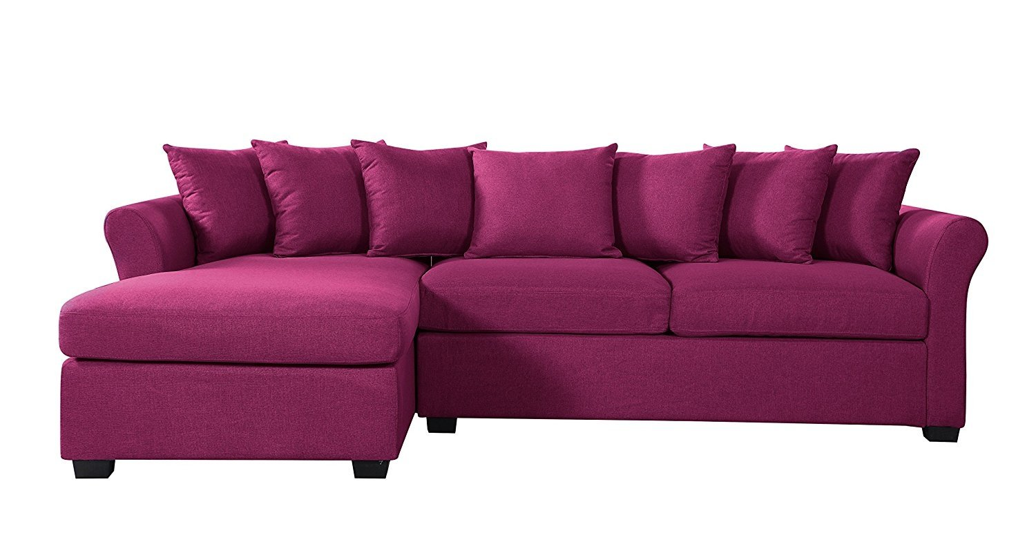 Astounding Details About Modern Large Fabric Sectional Sofa L Shape Couch With Wide Chaise Purple Ibusinesslaw Wood Chair Design Ideas Ibusinesslaworg