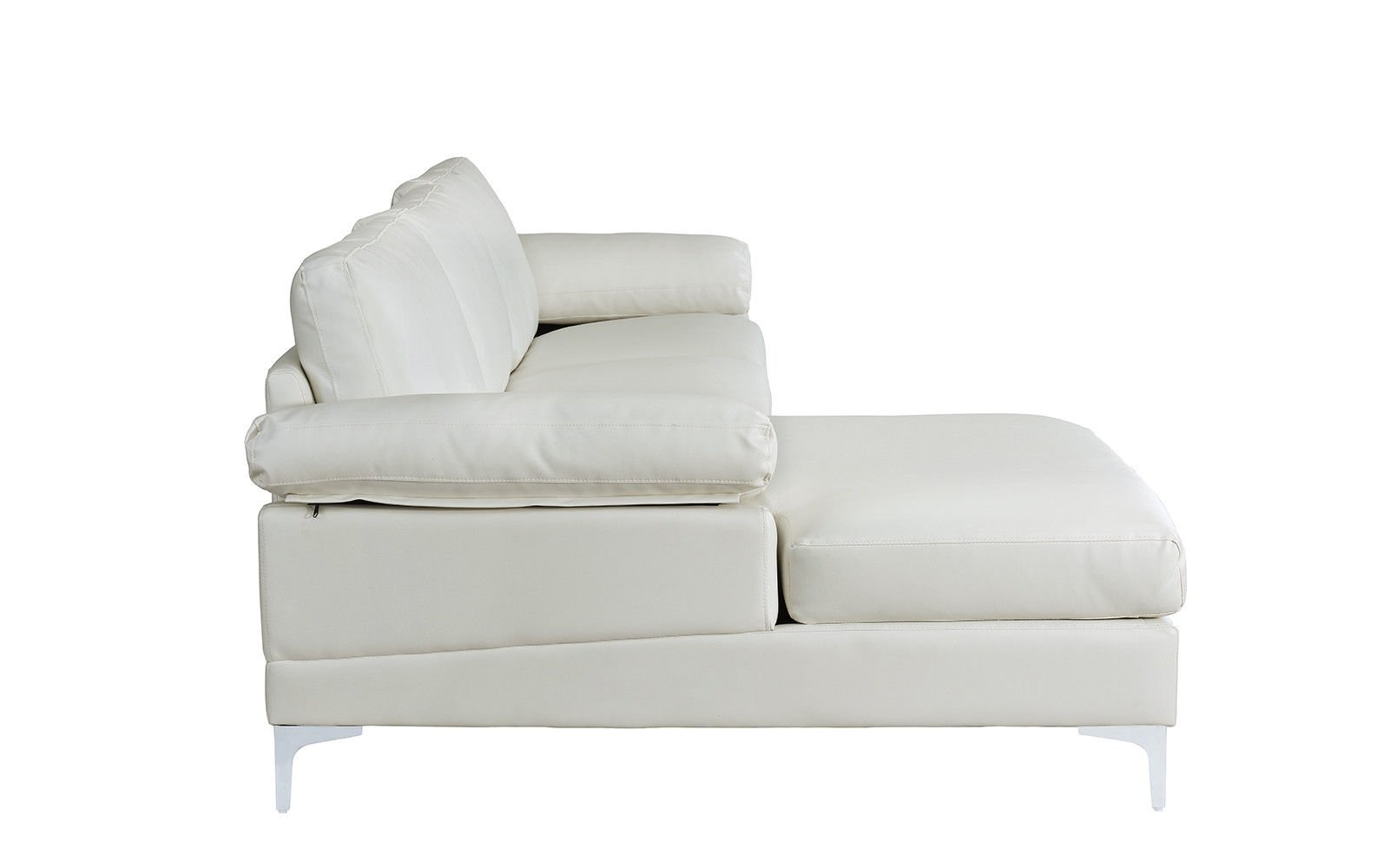 Modern Large Faux Leather Sectional Sofa L-Shape Couch ...