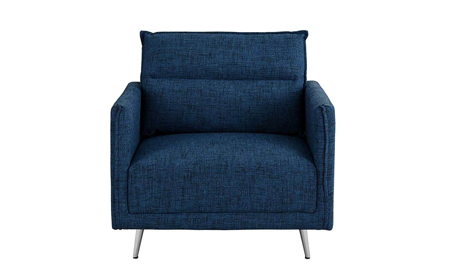 Details About Upholstered 35 4 Fabric Armchair Living Room Lounge Accent Chair Dark Blue