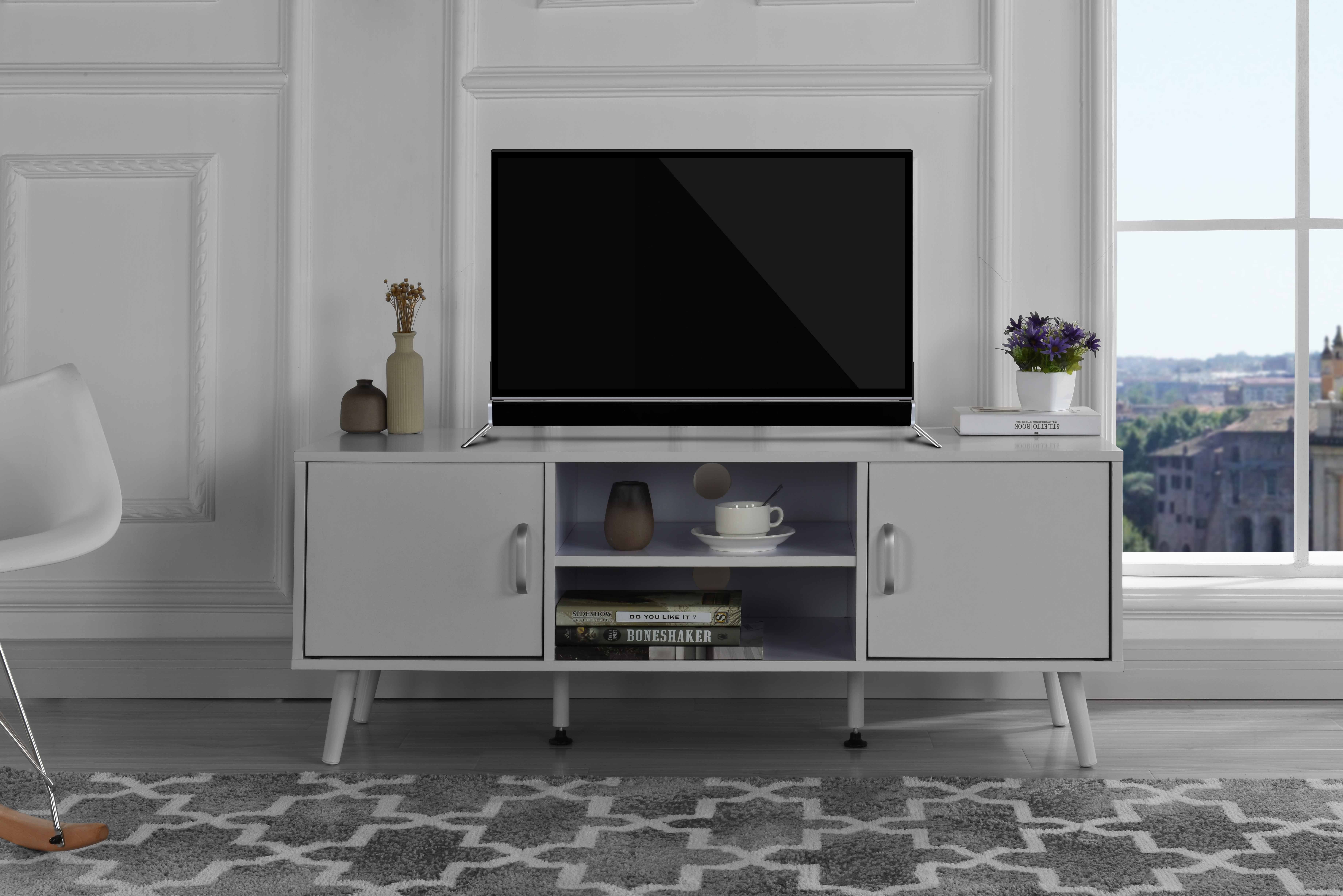 Mid Century Modern Tv Stand White