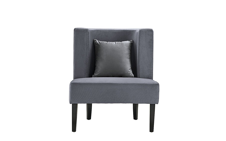 Accent Chair For Living Room Upholstered Armless Velvet Chairs