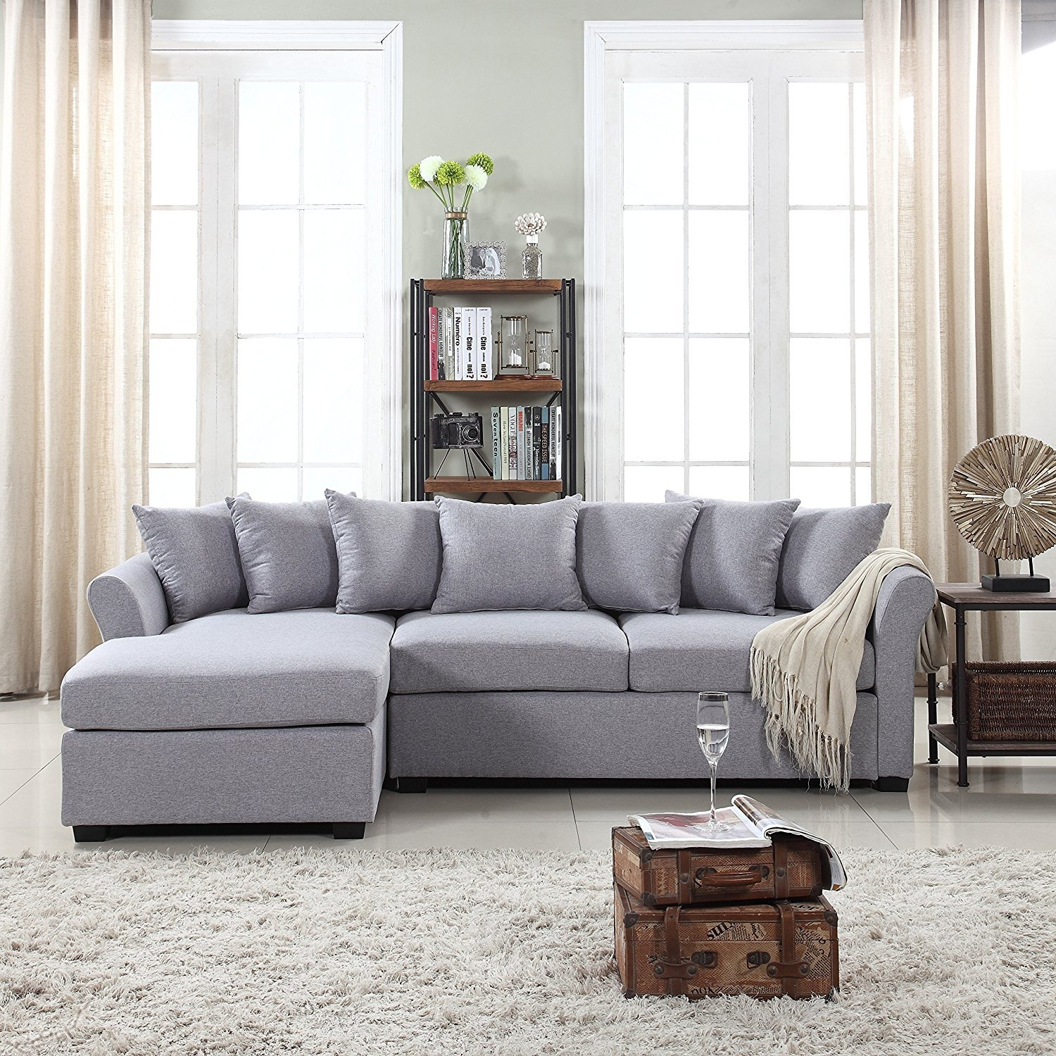 Image Is Loading Modern Large Fabric Sectional Sofa L Shape Couch