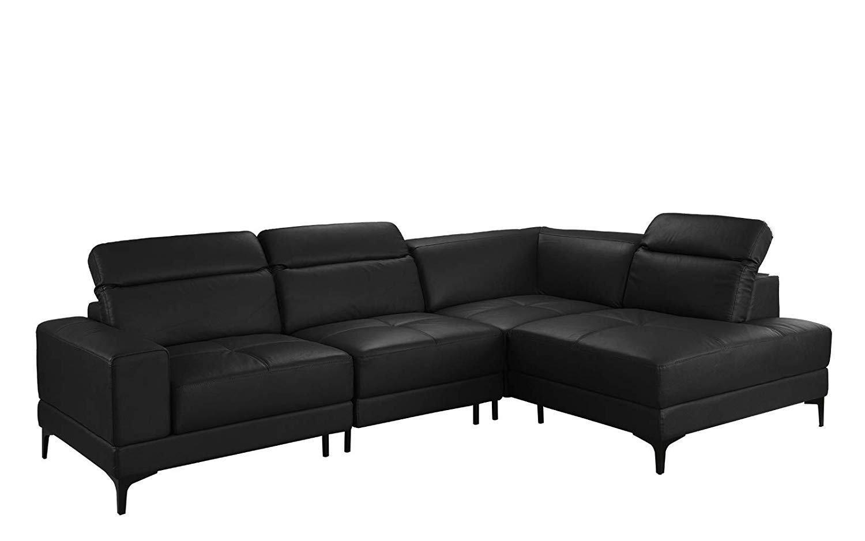 Large Modern Leather Sectional Sofa, Adjustable Living Room L-Shape ...