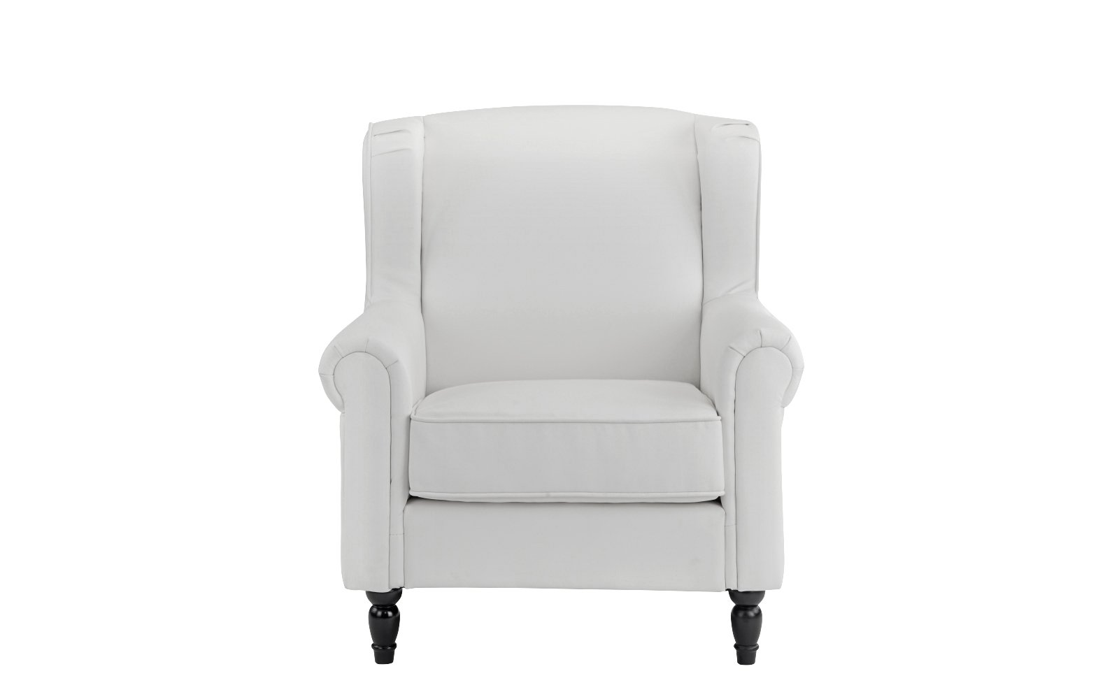 Miraculous Details About Classic Scroll Arm Faux Leather Accent Chair Living Room Armchair White Pabps2019 Chair Design Images Pabps2019Com