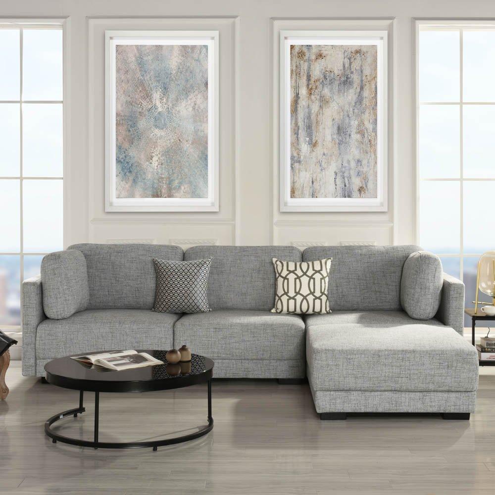 L Shape Couch Configurable Sofa Fabric
