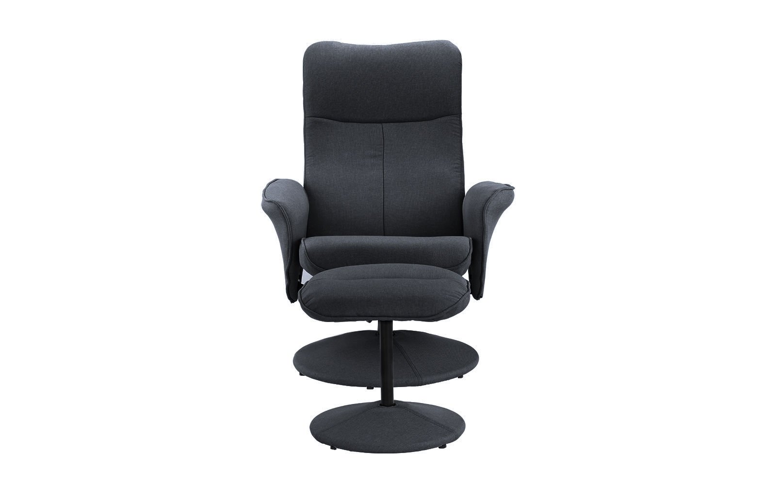Details About Recliner Chair With Footstool Gaming And Office Dark Grey
