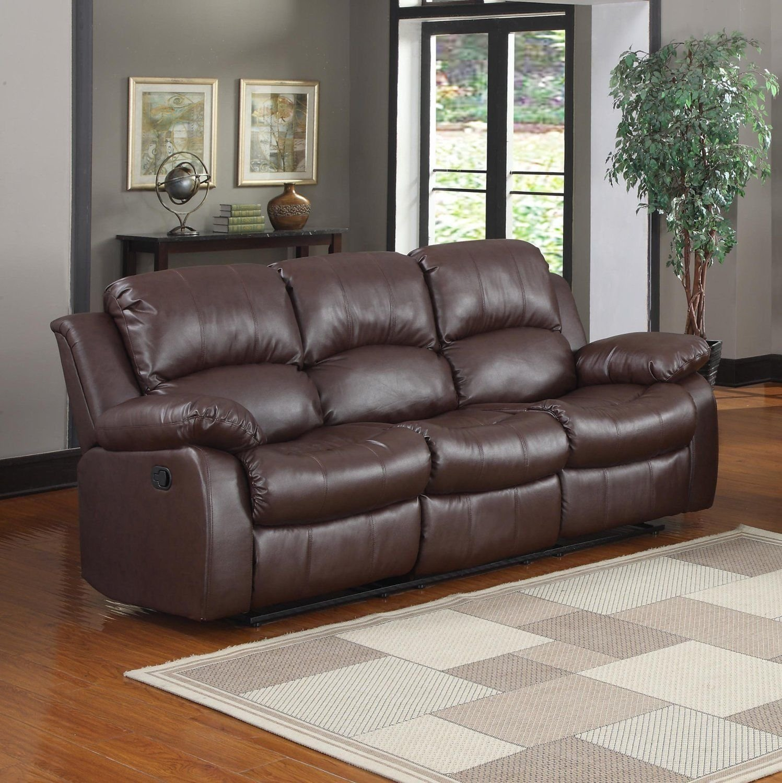 3 Seater Sofa Brown Over Stuffed