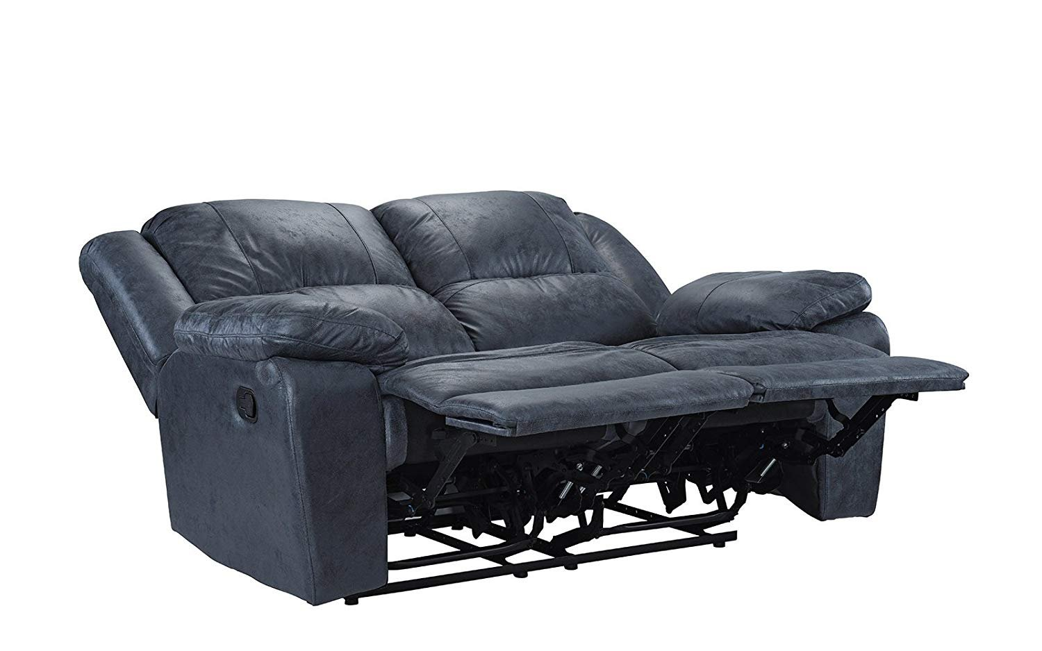 Classic Oversize 56 Inch Air Leather Recliner Living Room Loveseat