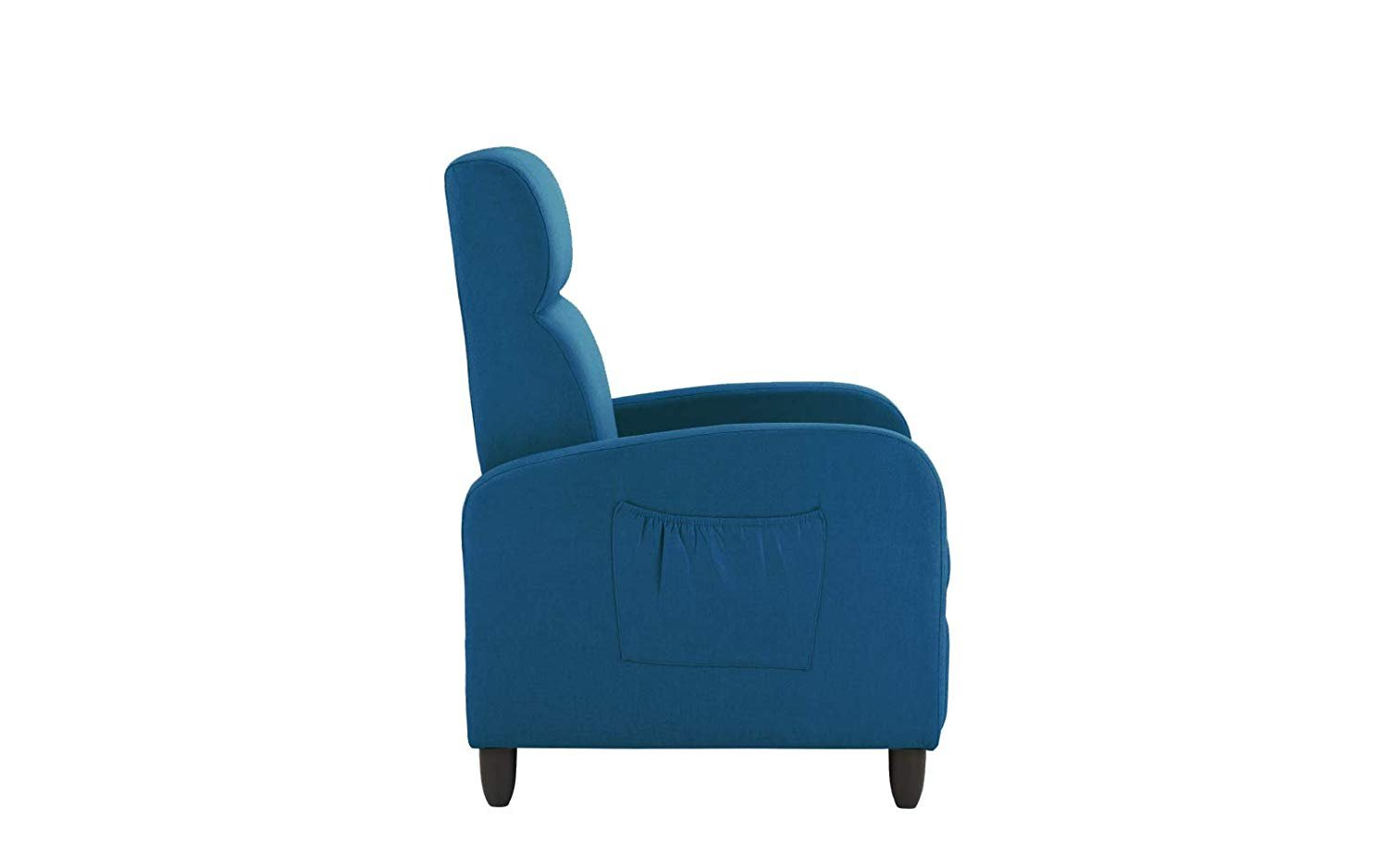 Modern Slim Manual Reclining Chair Classic Recliner For