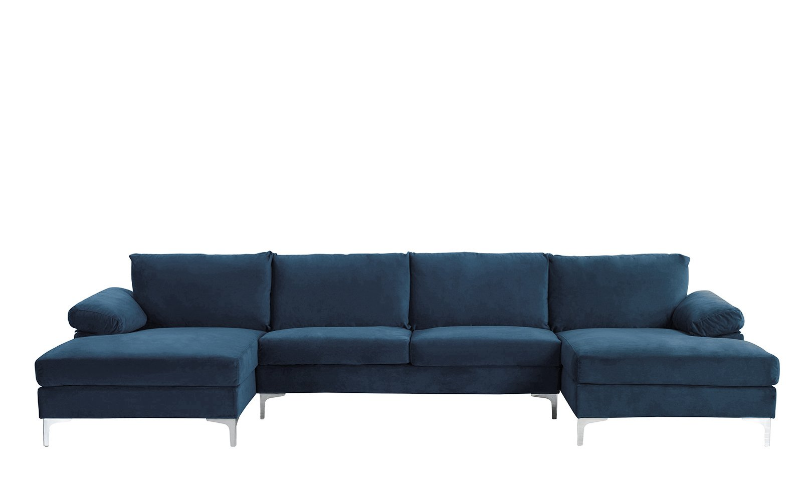 Phenomenal Details About Modern Large Velvet U Shape Sectional Sofa Double Extra Wide Chaise Lounge Navy Inzonedesignstudio Interior Chair Design Inzonedesignstudiocom