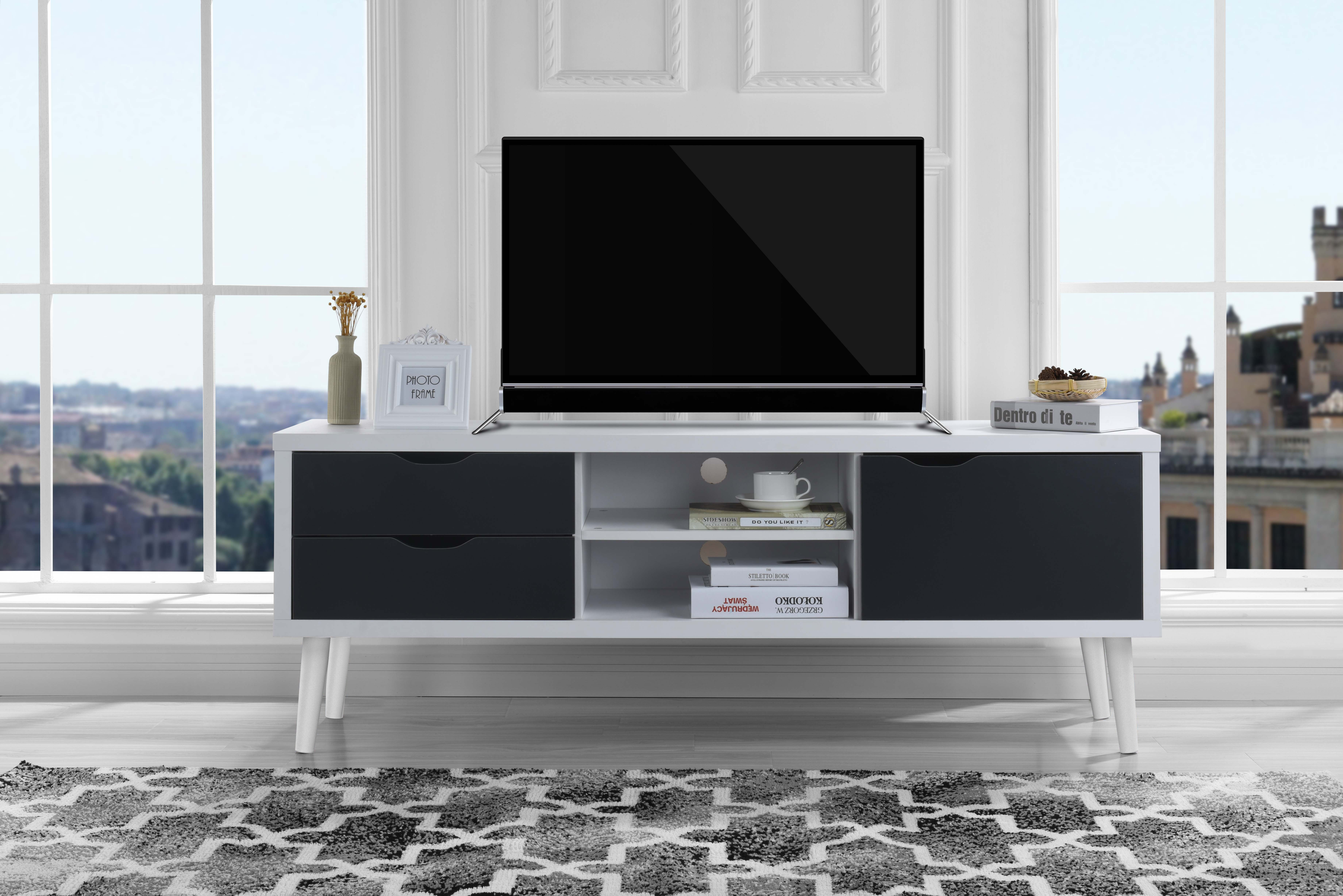 Image is loading mid century style tv stand living room tv