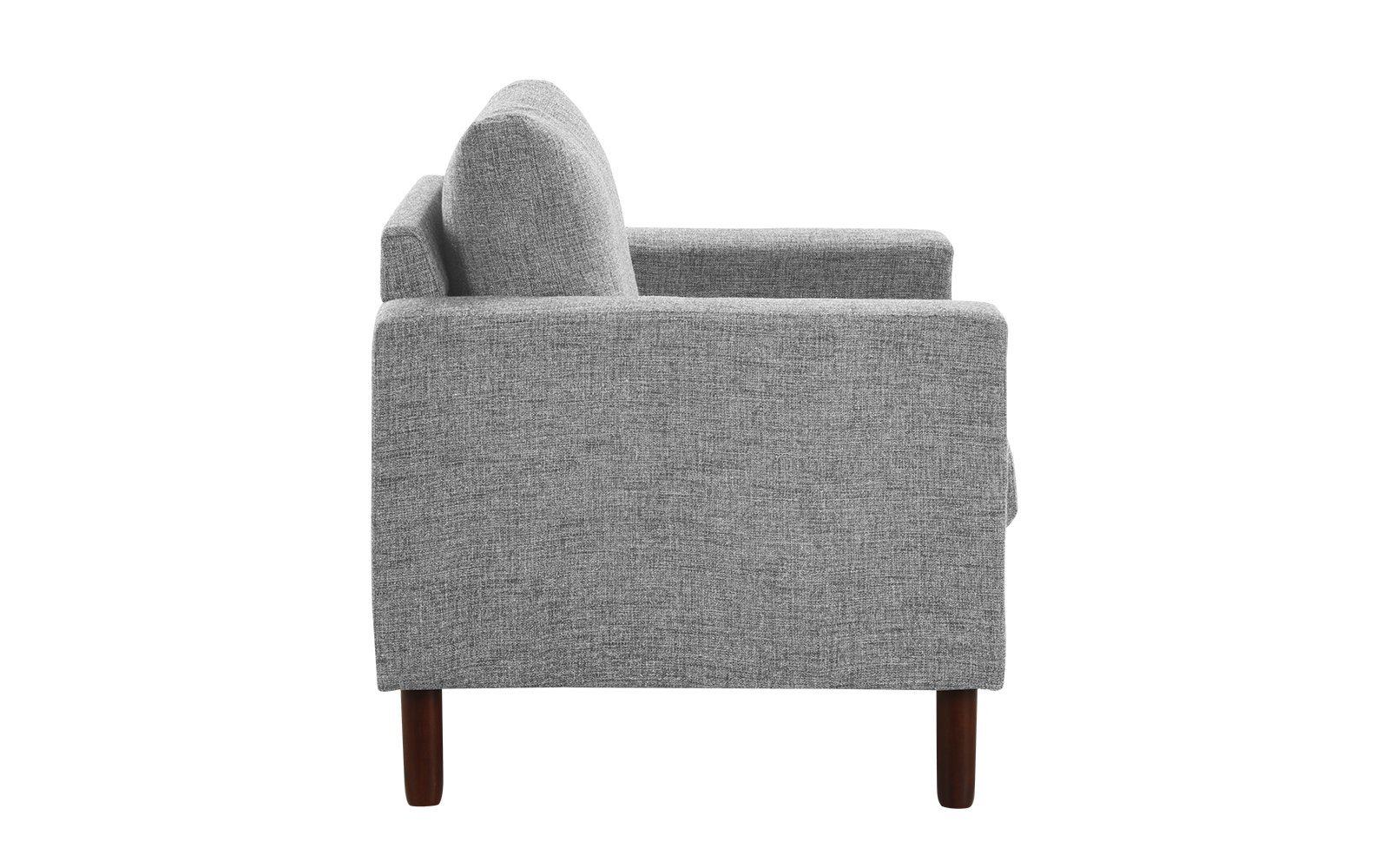 Details About Modern Tufted Linen Fabric Armchair W Wooden Legs Living Room Chair Light Grey
