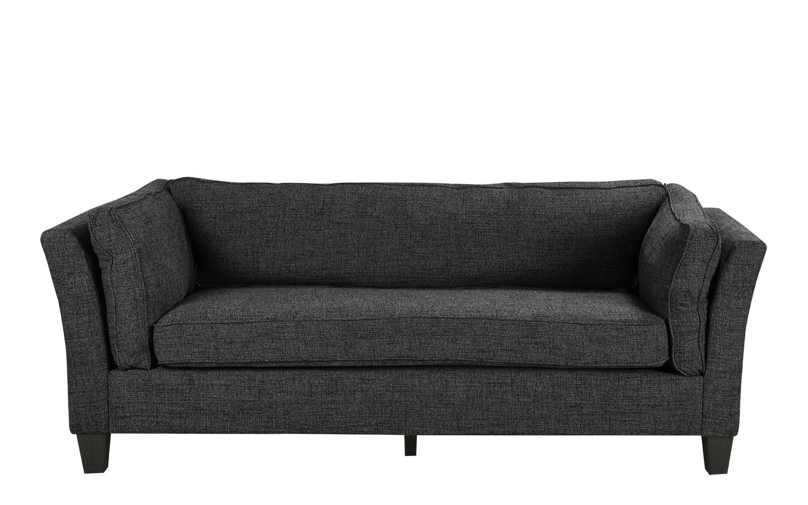 Details About Modern Mid Century Lounge Sofa, Linen Fabric Sofa Couch In  Dark Ash Grey