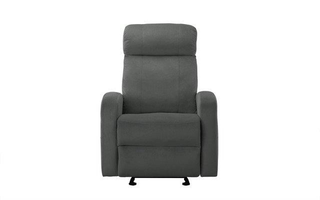 Prime Details About Dark Grey Overstuffed Reclining Modern Living Room Linen Fabric Recliner Chair Machost Co Dining Chair Design Ideas Machostcouk