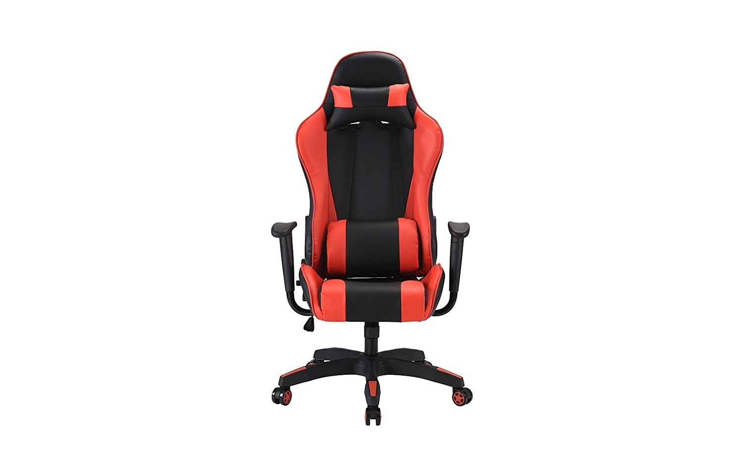 Wondrous Details About Computer Gaming Chair Office Pu Leather Swivel Computer Chair Red Black Beatyapartments Chair Design Images Beatyapartmentscom