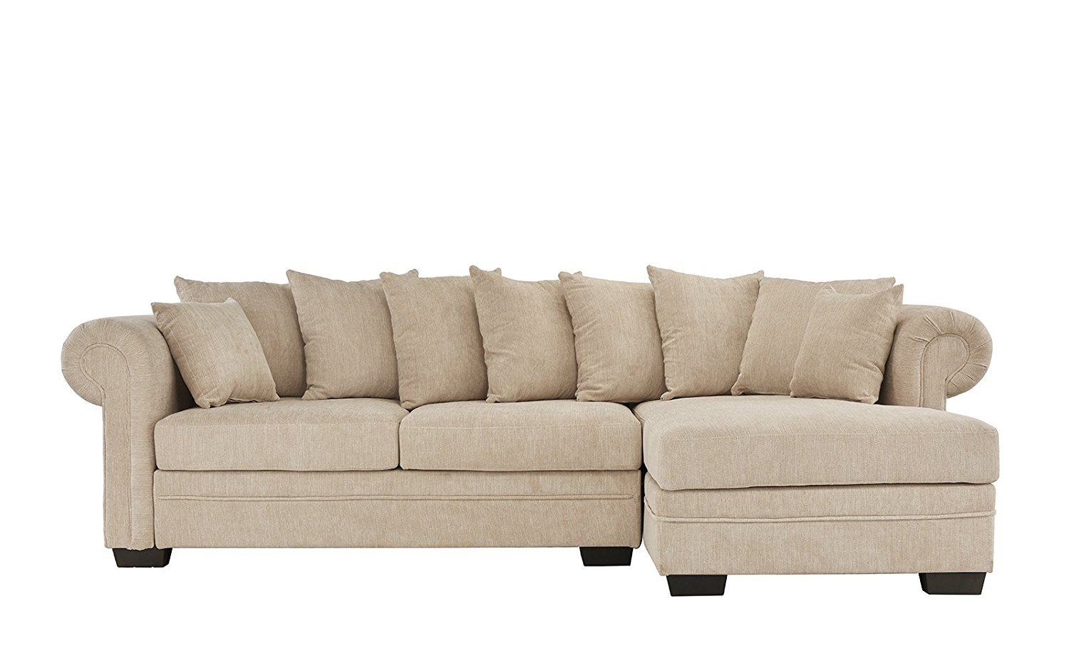 Modern Large Fabric Sectional Sofa L Shape Couch Right Facing
