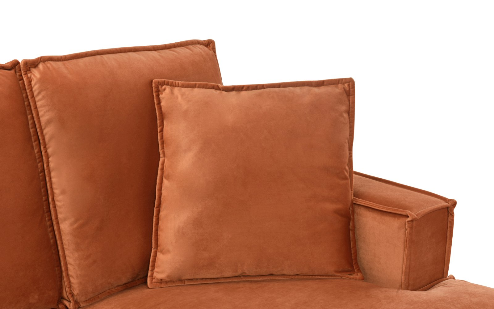 Groovy Details About Small Space L Shape Sofa Velvet Sectional With Matching Pillows 2 Rust Theyellowbook Wood Chair Design Ideas Theyellowbookinfo