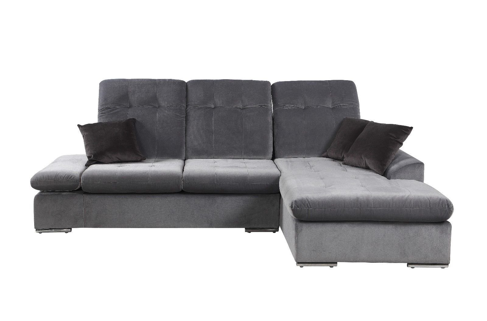 Modern Microfiber Sectional Sofa With Chaise L Shape