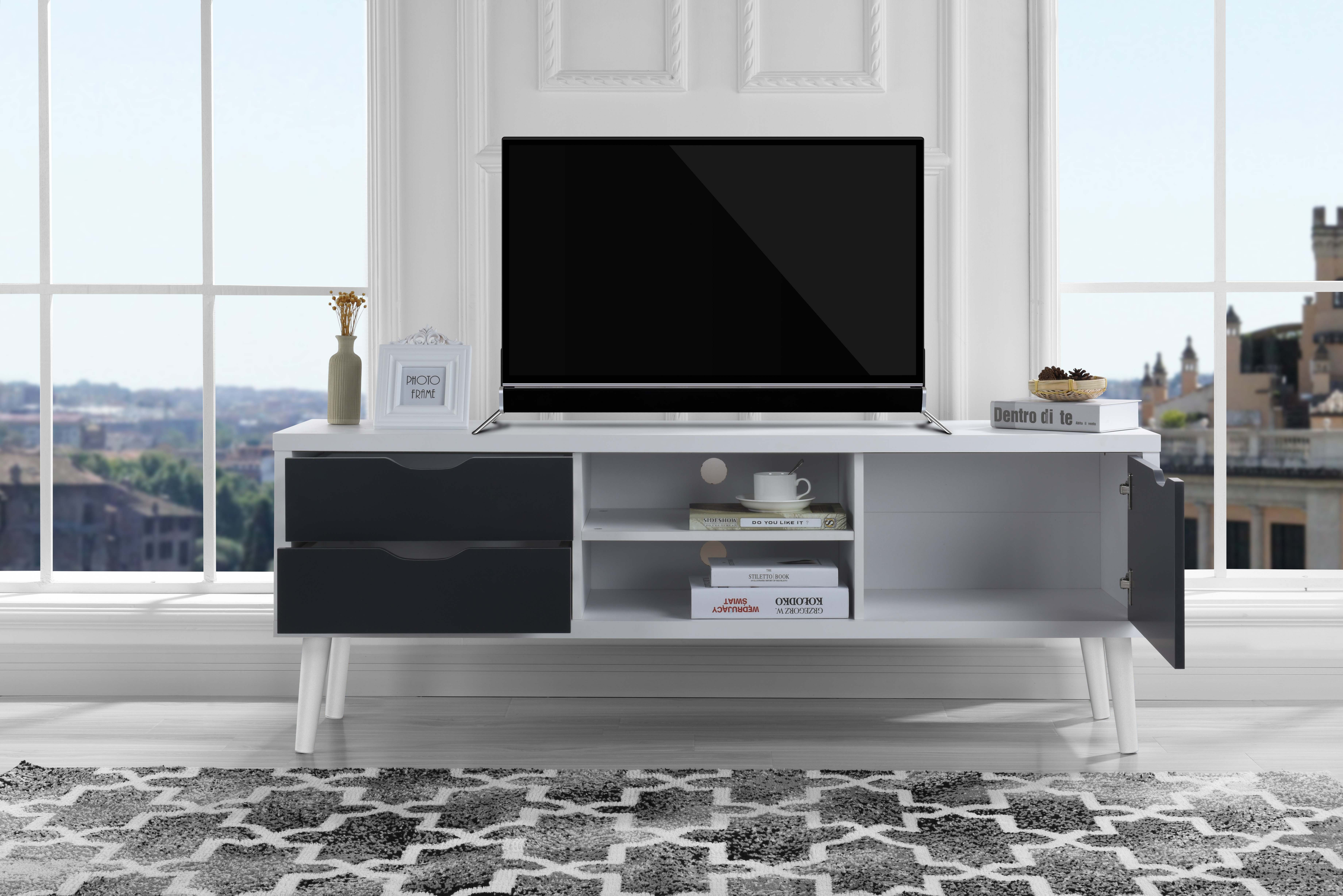 Mid-Century Style TV Stand Living Room TV Entertainment Center ...