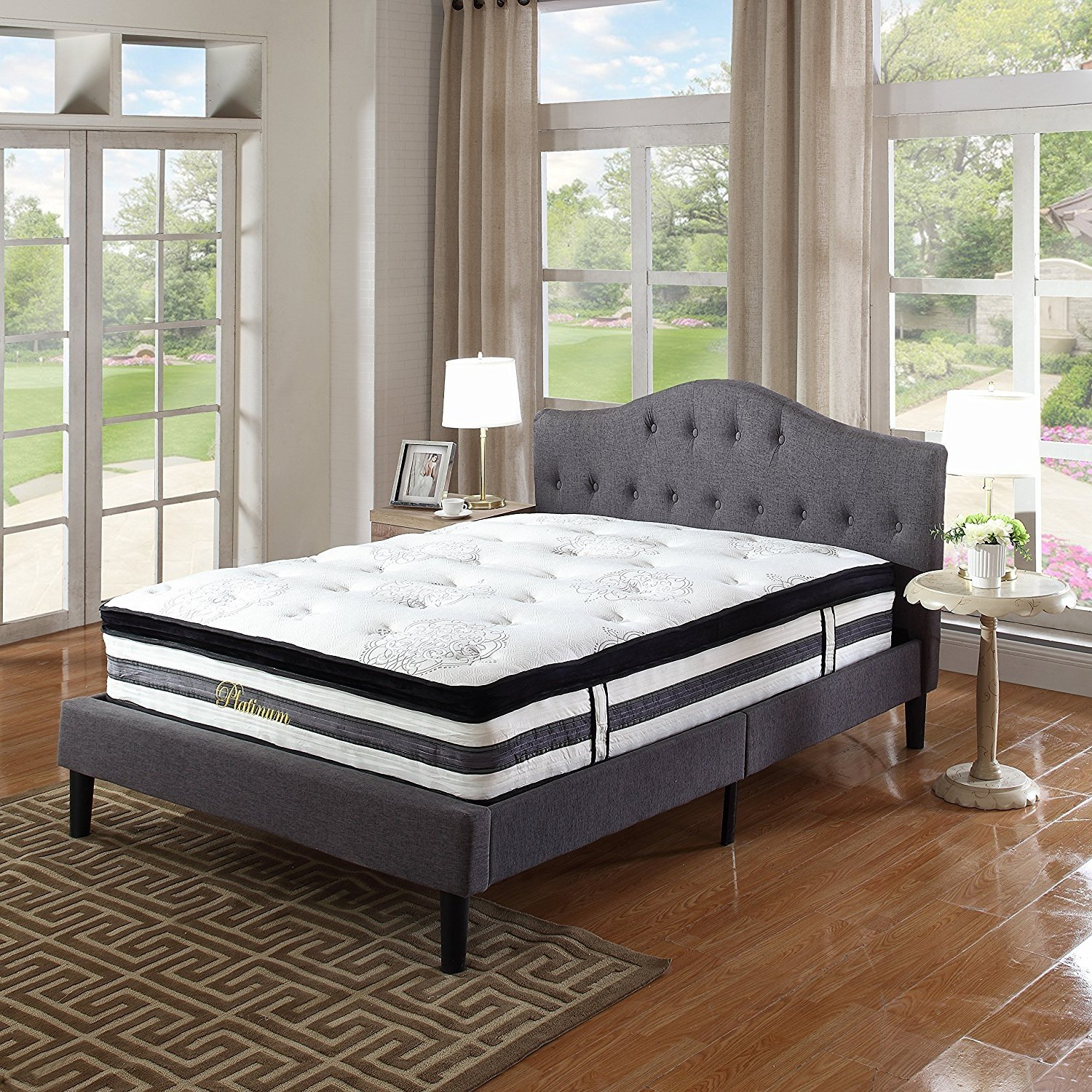 """15"""" Inch Hybrid Innerspring and Memory Foam Mattress with ..."""