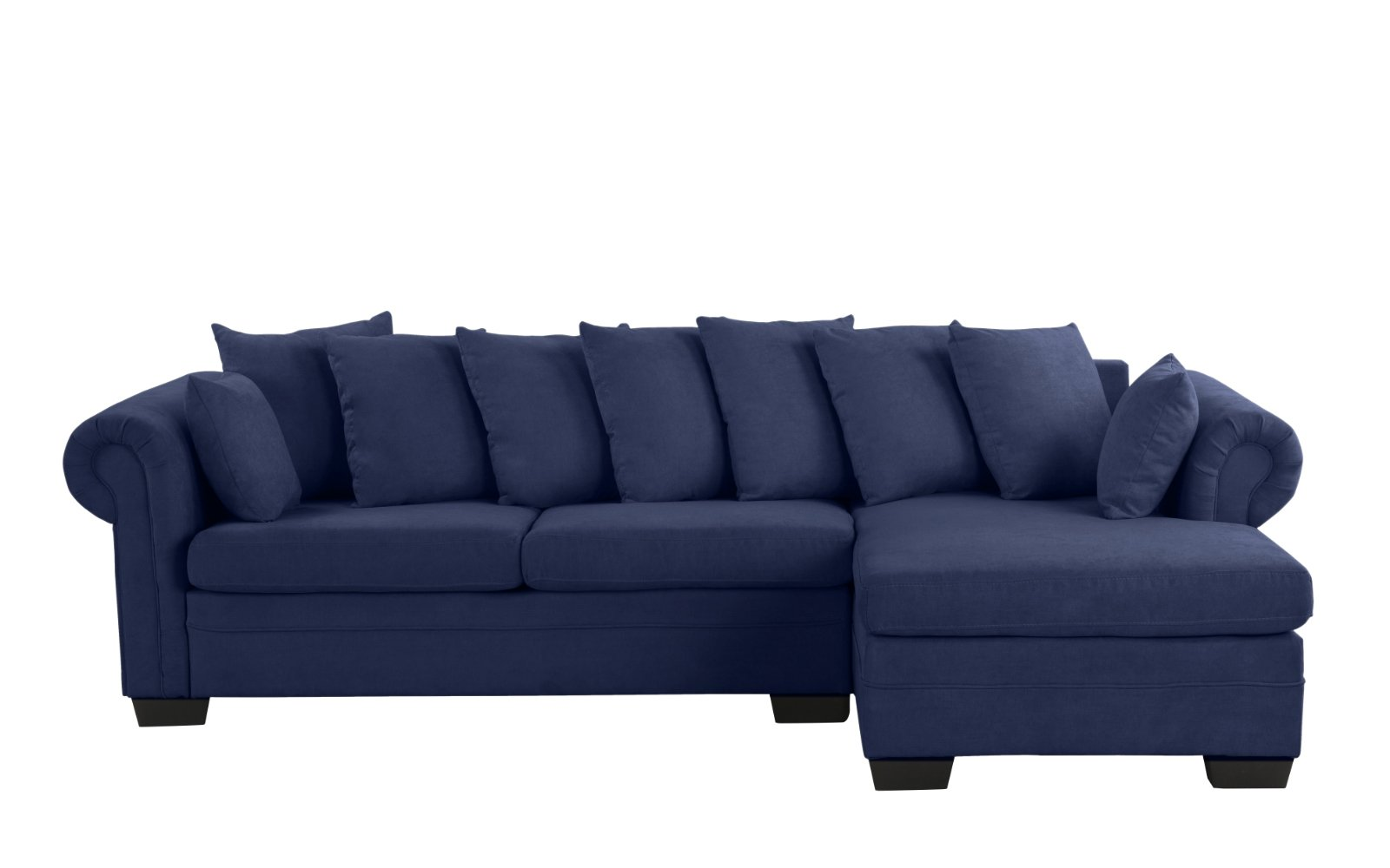 Navy Blue L-Shape Couch Sectional Right Facing Chaise ...