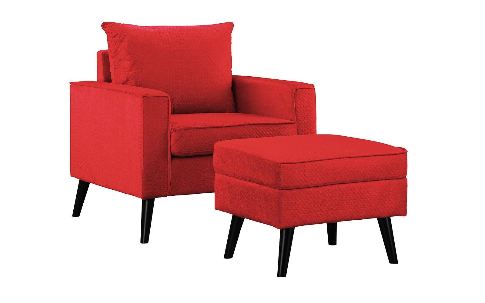 Enjoyable Details About Modern Microfiber Living Room Bedroom Accent Chair With Storage Ottoman Red Inzonedesignstudio Interior Chair Design Inzonedesignstudiocom