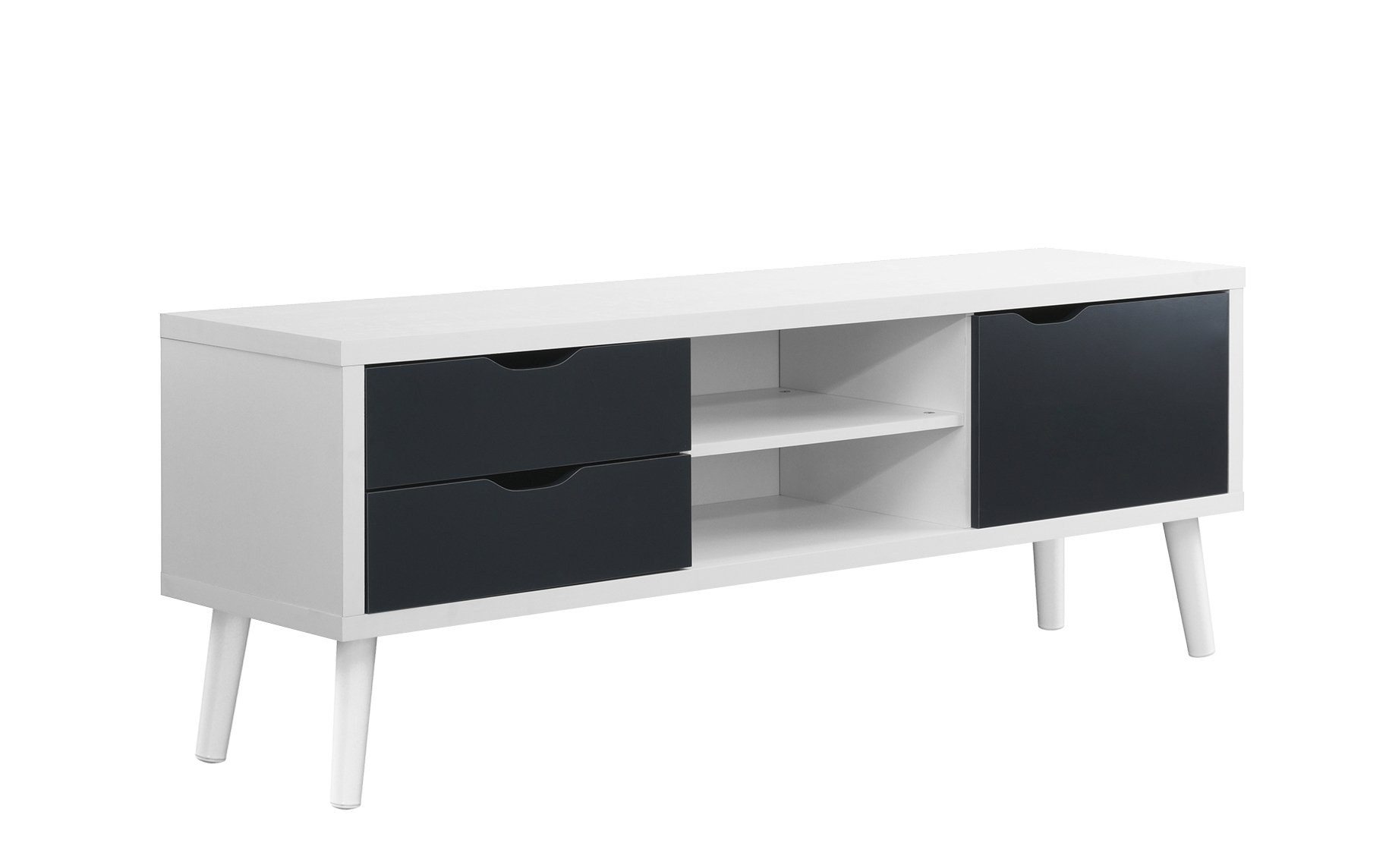Sofamania Mid Century Style Tv Stand Living Room Entertainment