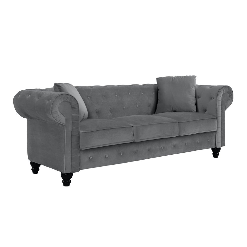 Chesterfield Sofa Microfiber Velvet