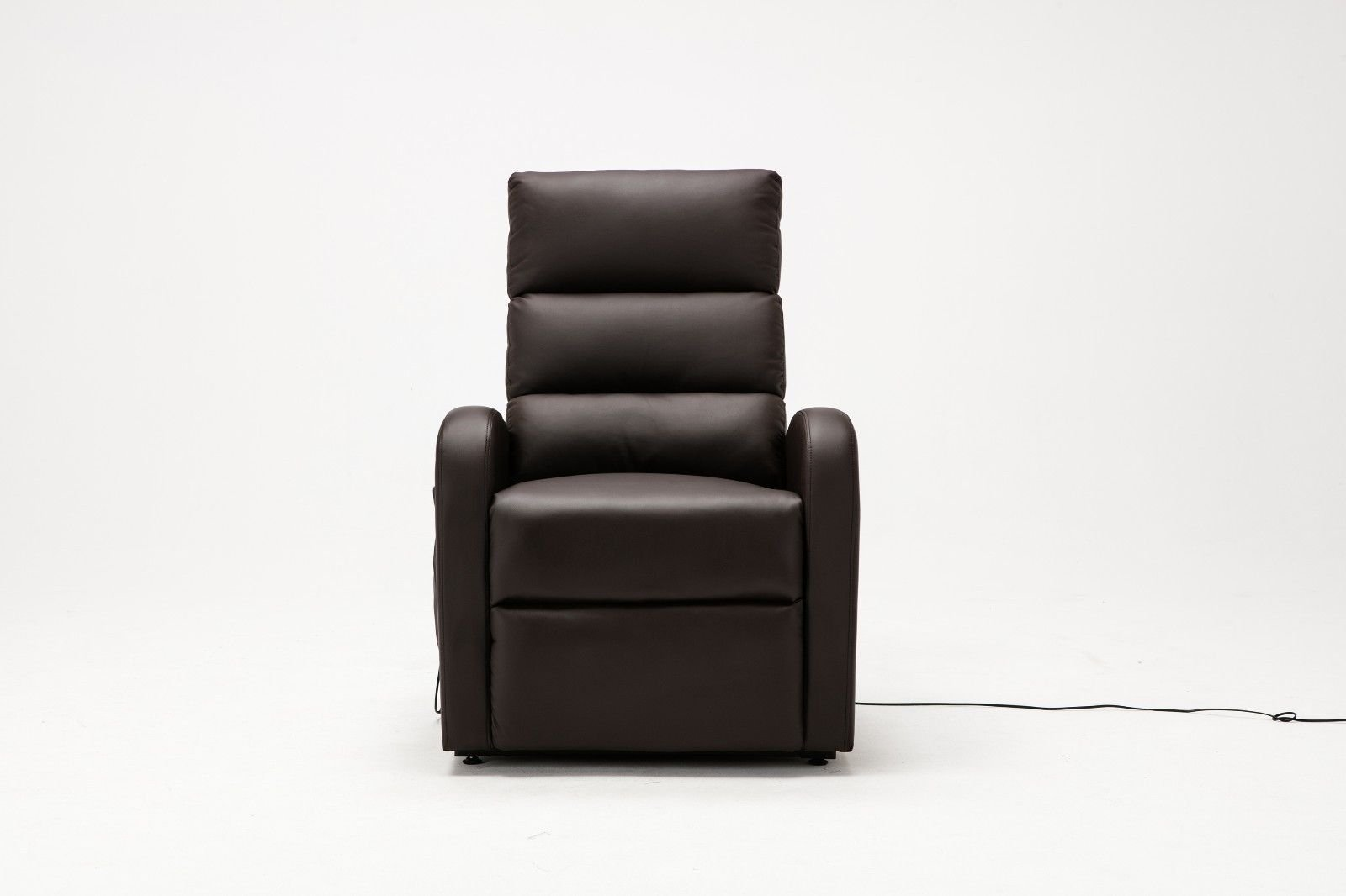 Outstanding Classic Plush Bonded Leather Power Lift Recliner Living Room Chair Brown Caraccident5 Cool Chair Designs And Ideas Caraccident5Info