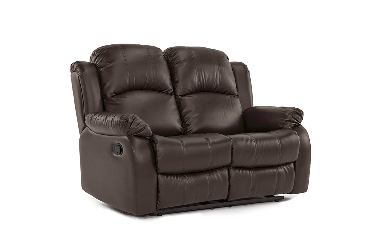 Details about Classic and Traditional Bonded Leather Recliner Chair, Love  Seat, Sofa Size -...