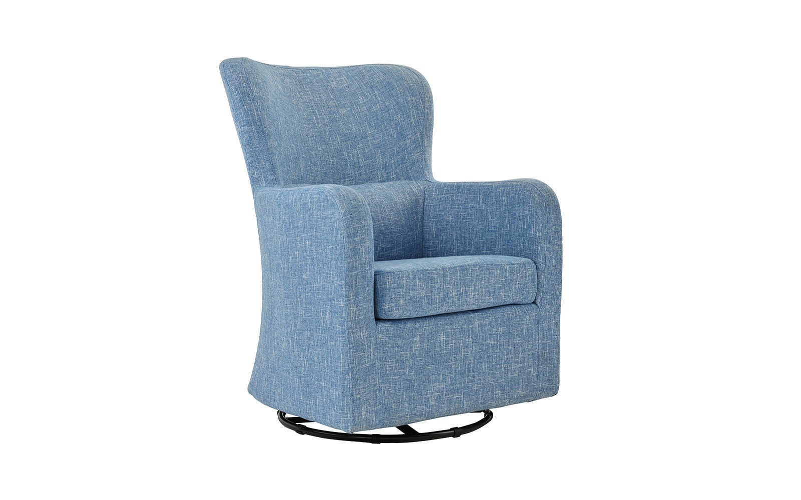 Details About Living Room Home Decor Armchair Rotating Swivel Accent Chair Linen Light Blue
