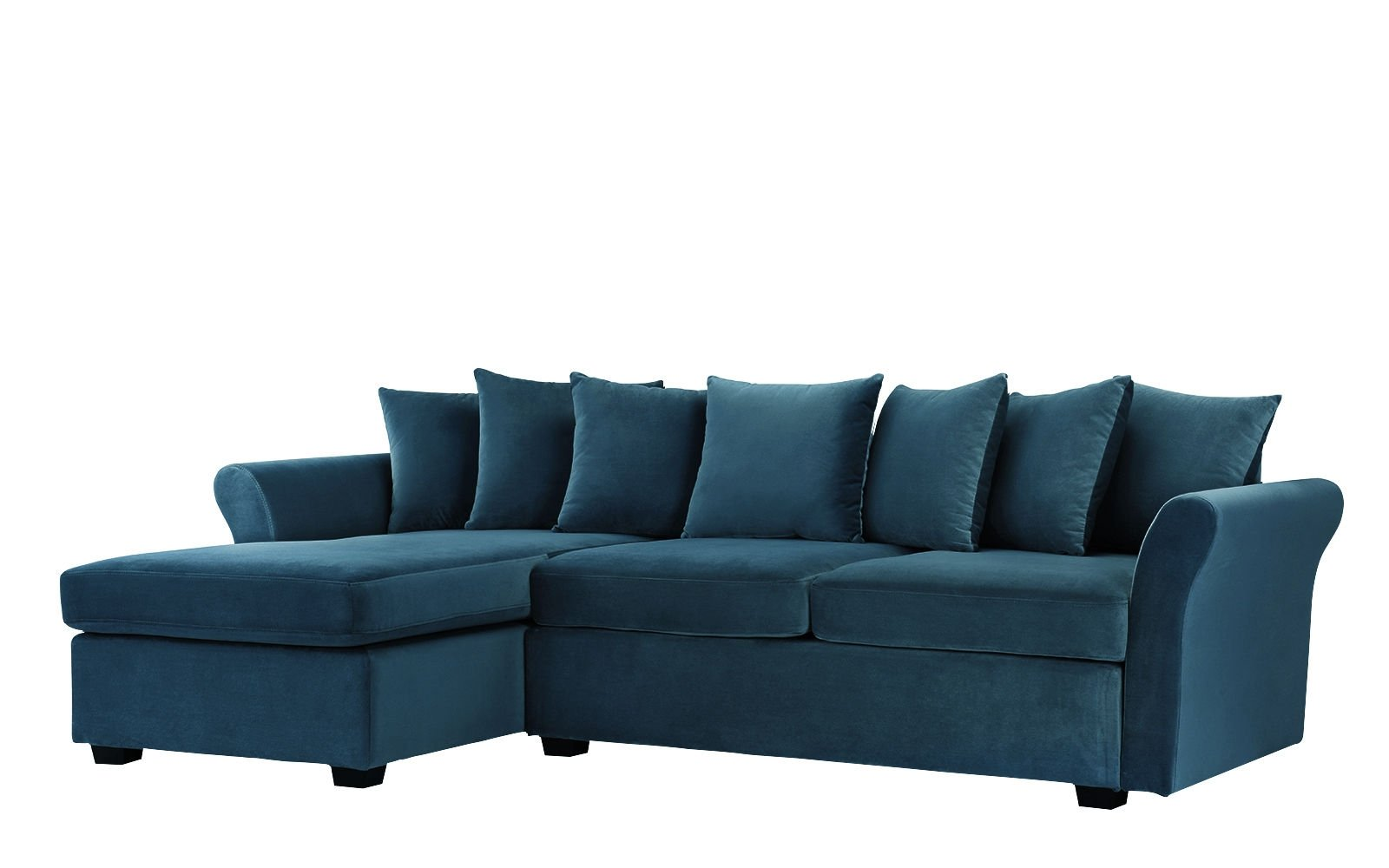 Modern Velvet Sectional Sofa Large L Shape Couch W Chaise