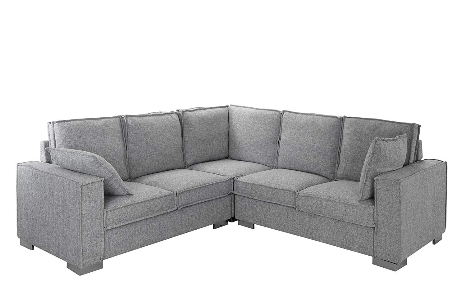 Modern Living Room Fabric Sectional Sofa, L Shape Couch W