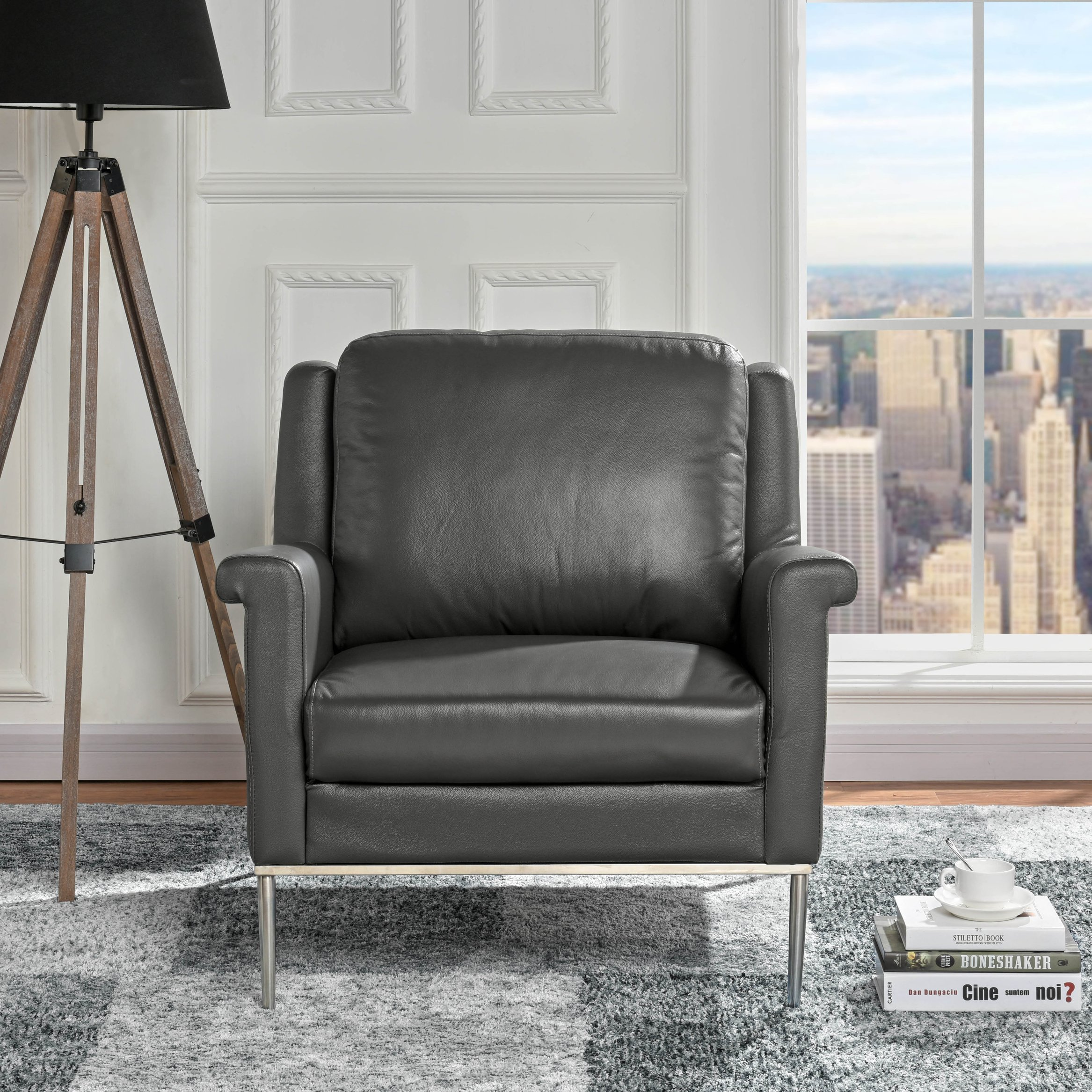 Pleasing Details About Classic Living Room Leather Armchair Accent Office Chair Grey Gmtry Best Dining Table And Chair Ideas Images Gmtryco