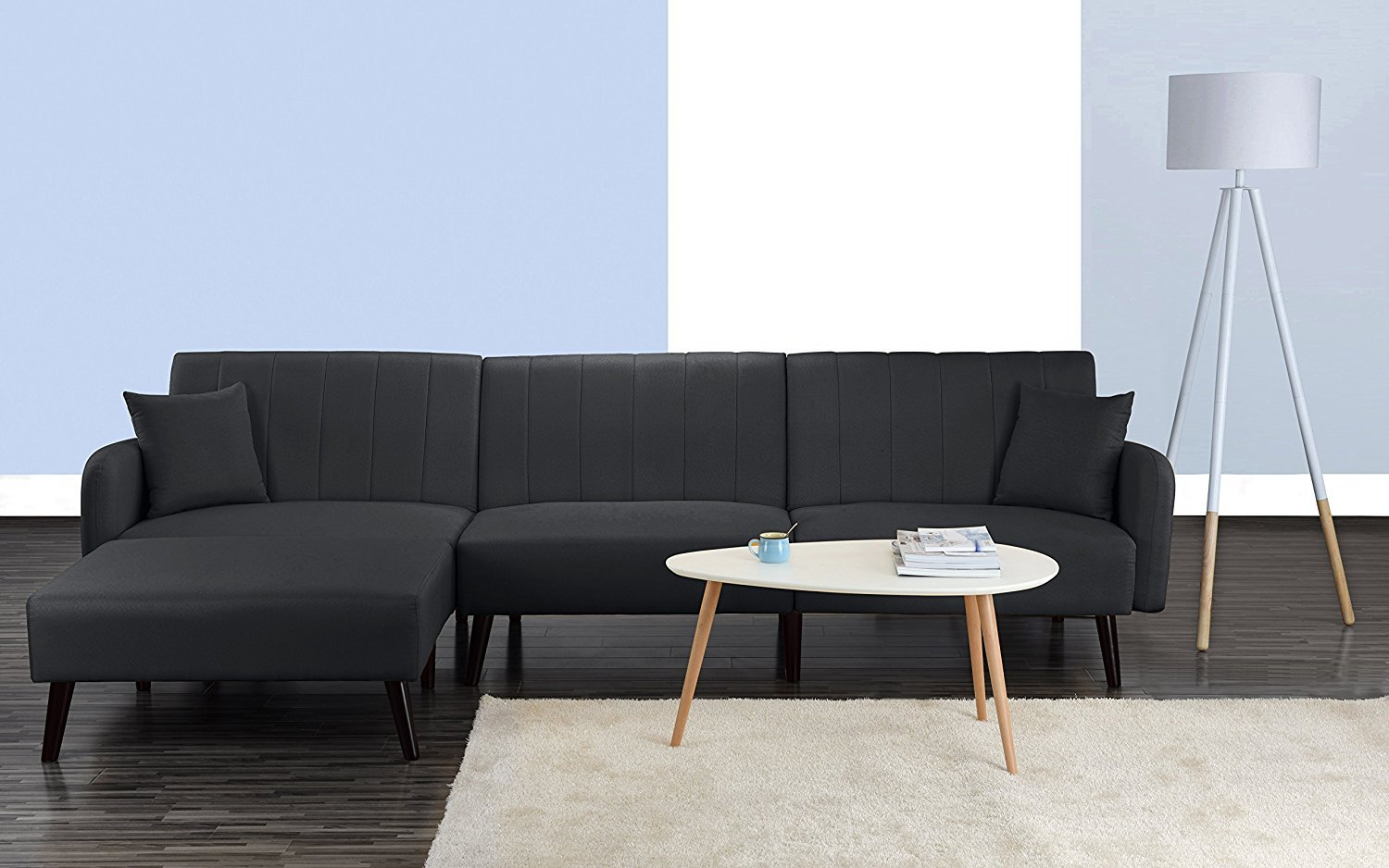 Astonishing Details About Mid Century Modern Style Linen Fabric Sleeper Futon Sofa Living Room Dark Grey Onthecornerstone Fun Painted Chair Ideas Images Onthecornerstoneorg