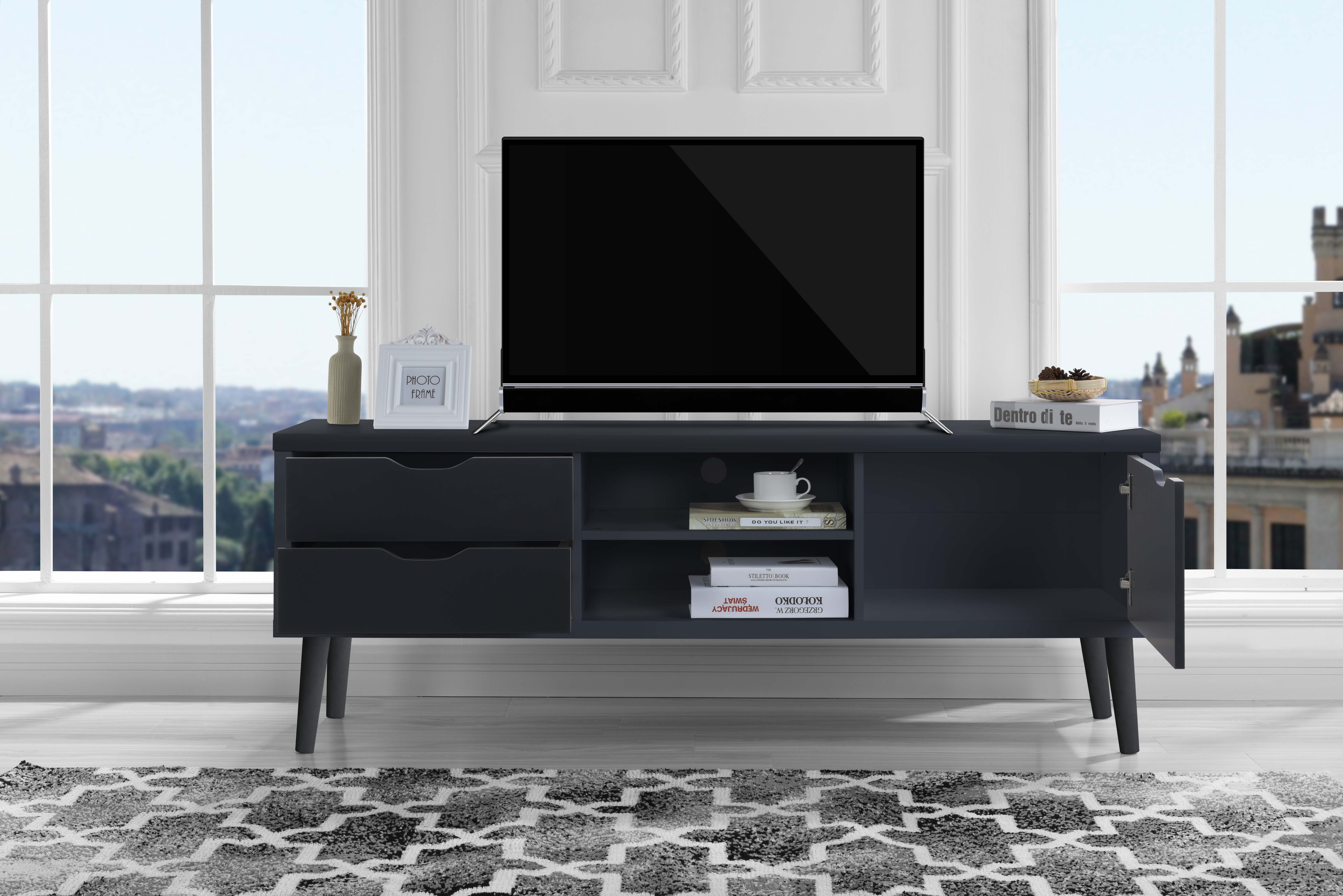Mid Century Modern Style Tv Stand Living Room