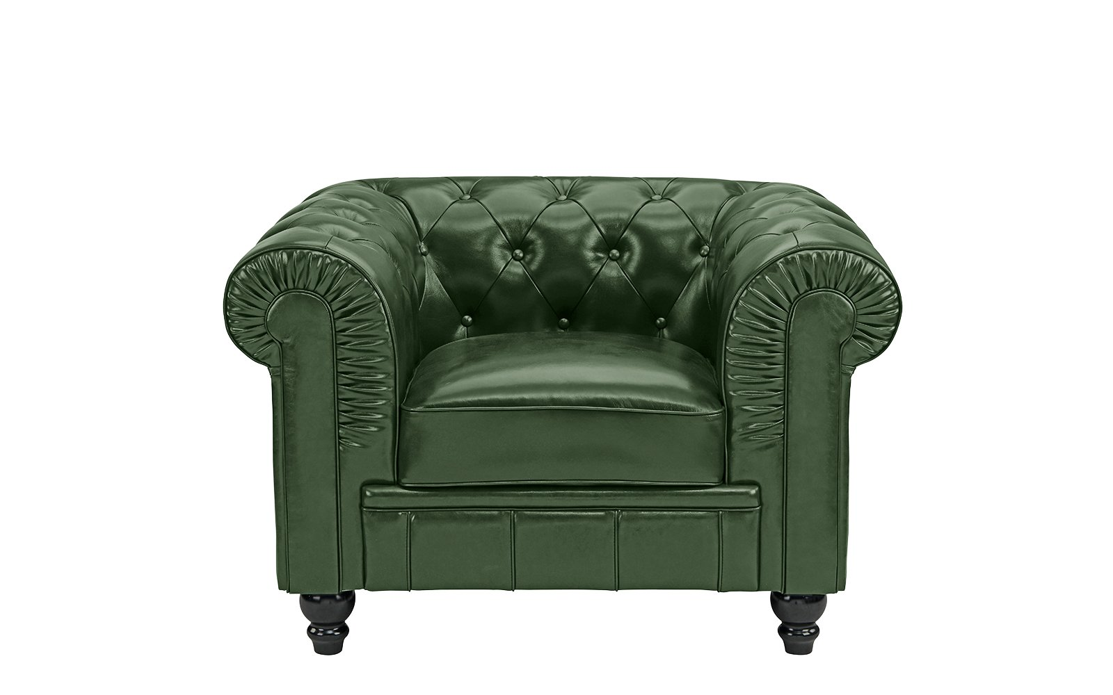 Image Is Loading Classic Chesterfield Scroll Arm Tufted Leather Accent Chair
