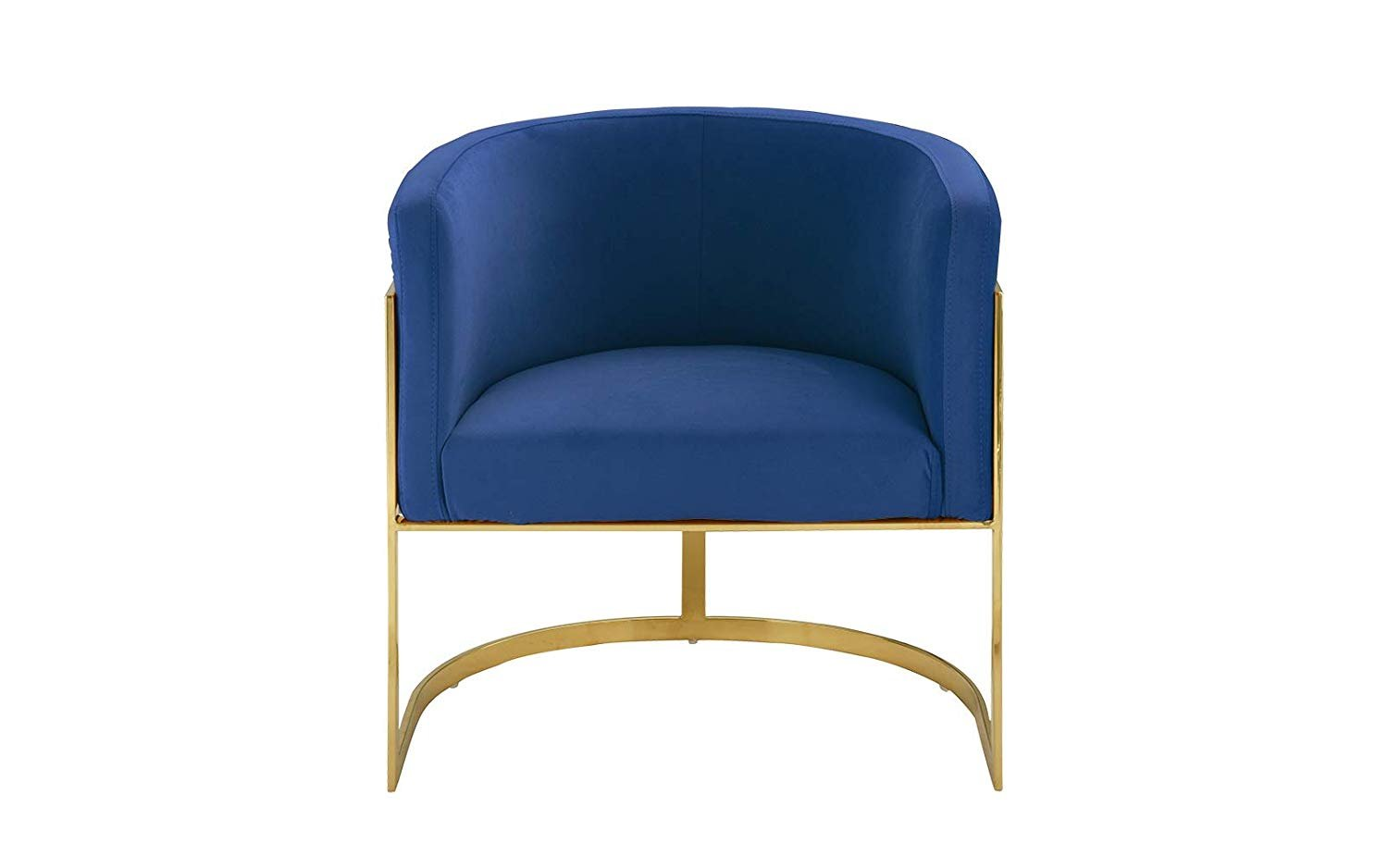 Swell Details About Modern Round Brush Microfiber Accent Armchair With Gold Legs Frame Navy Blue Evergreenethics Interior Chair Design Evergreenethicsorg
