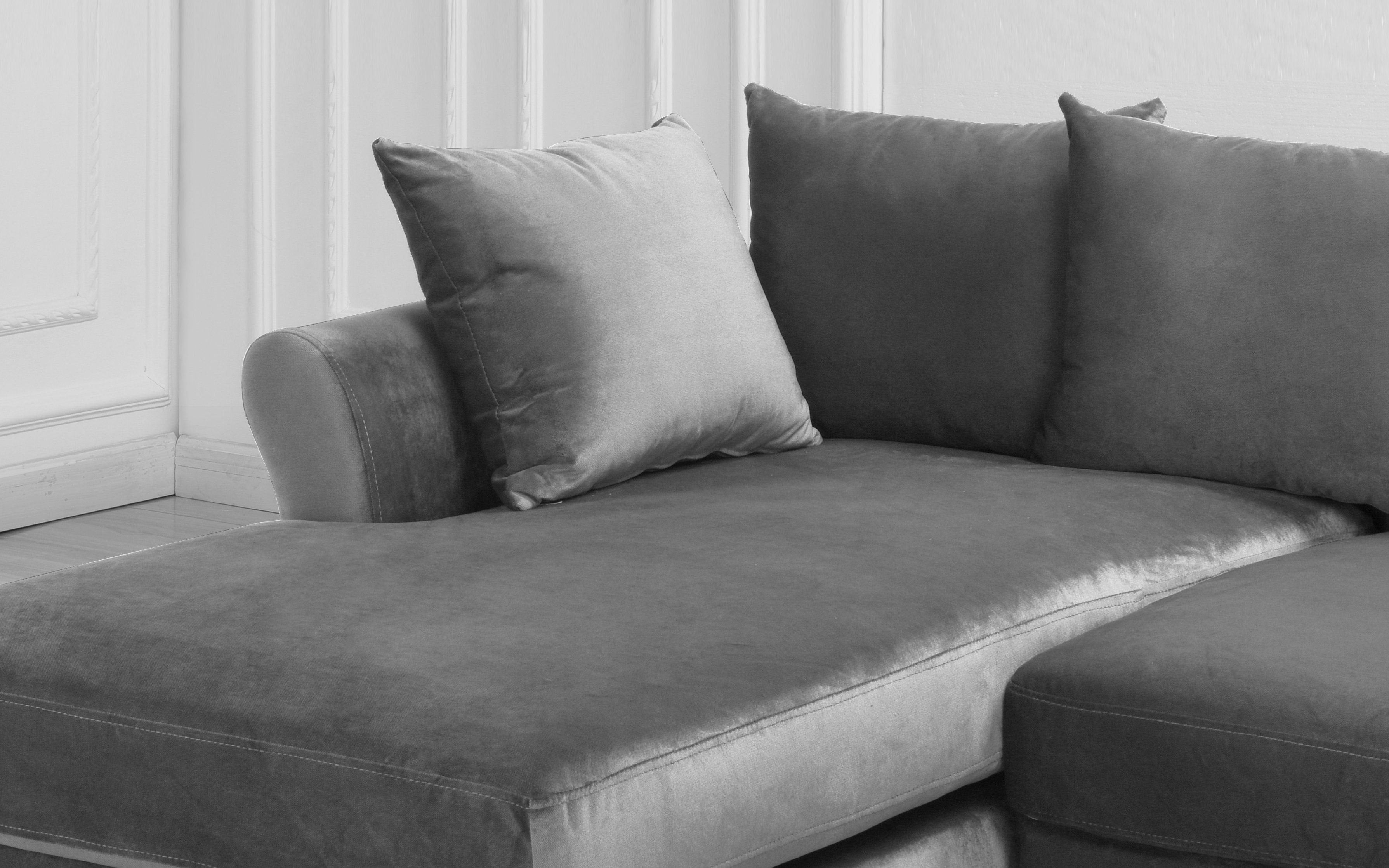 Astounding Details About Velvet Sectional Sofa W Removable Back Pillows Left Facing Chaise Light Grey Download Free Architecture Designs Scobabritishbridgeorg