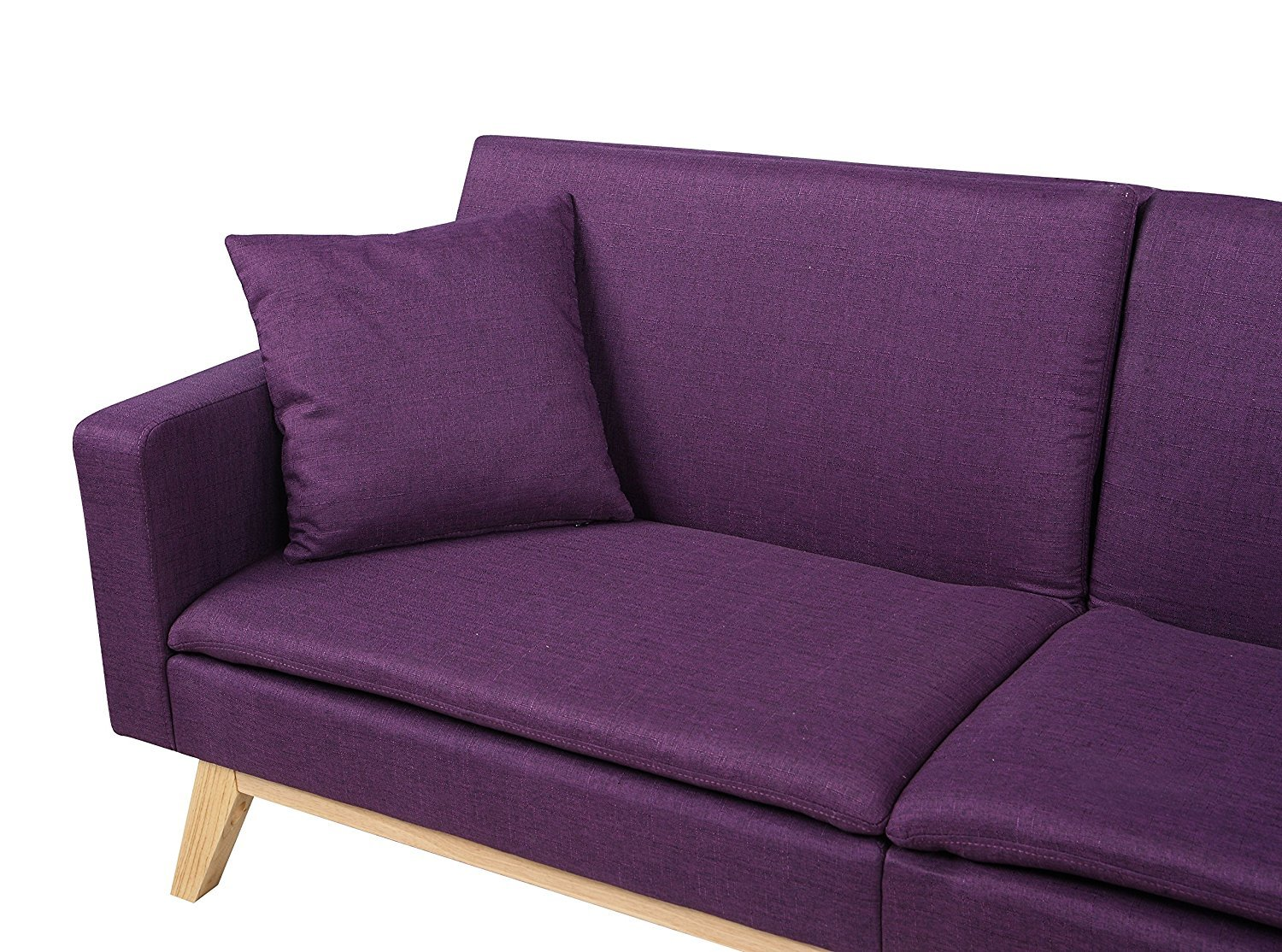 Admirable Details About Modern Tufted Sofa Linen Split Back Recliner Sleeper Futon Couch Purple Squirreltailoven Fun Painted Chair Ideas Images Squirreltailovenorg