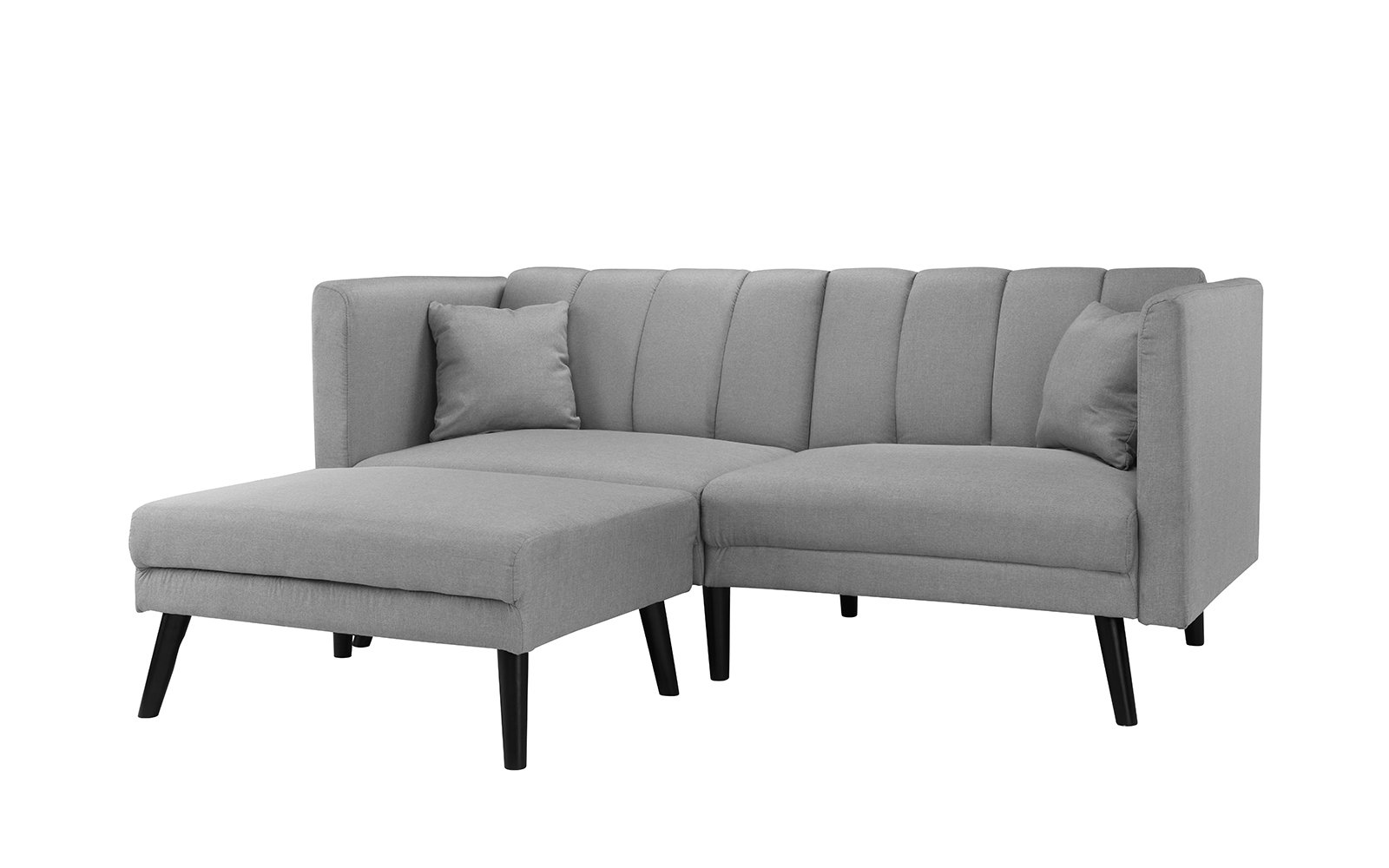 Casual Guest Room Couch Light Grey Futon Sofa Bed, Living Room ...
