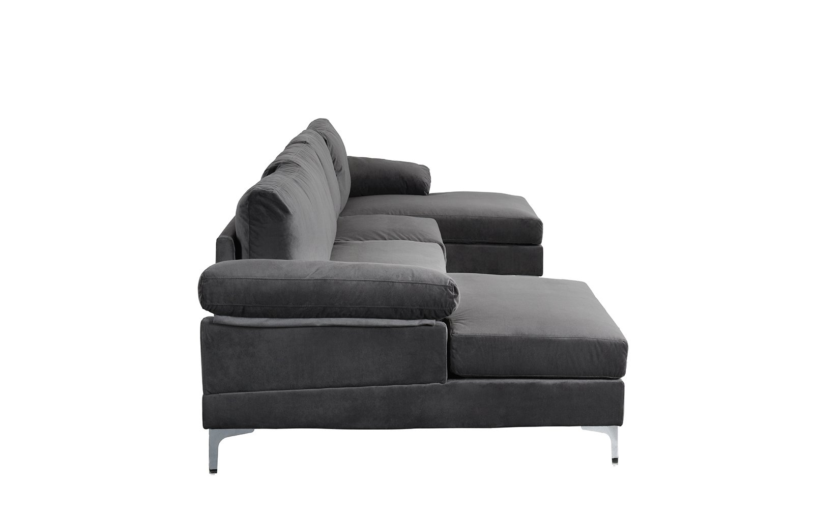 U Shape Sectional Sofa Double