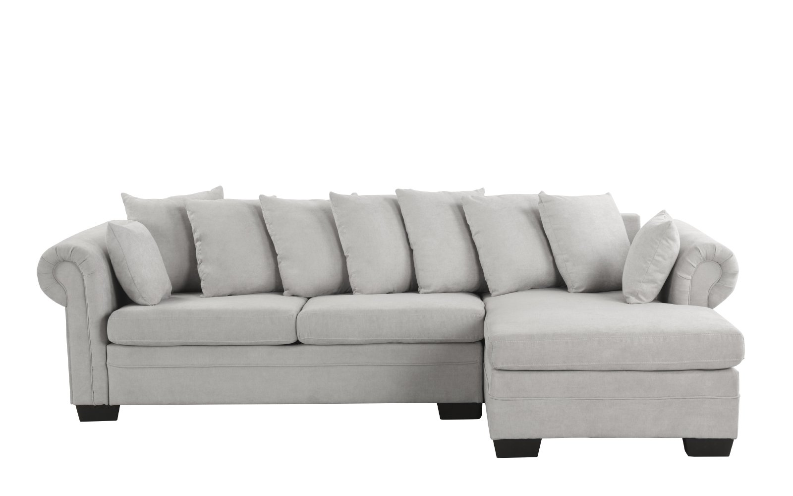 Large Brush Microfiber Sectional Sofa L-Shape Couch Extra ...