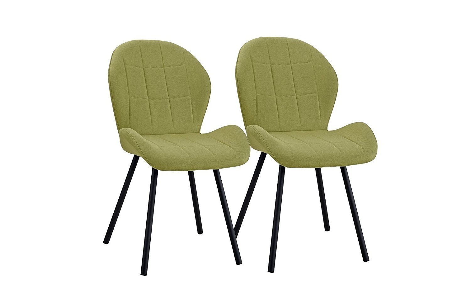 Details About Set Of 2 Dining Chairs Cushion Accent Chair For Kitchen Office Living Room Green