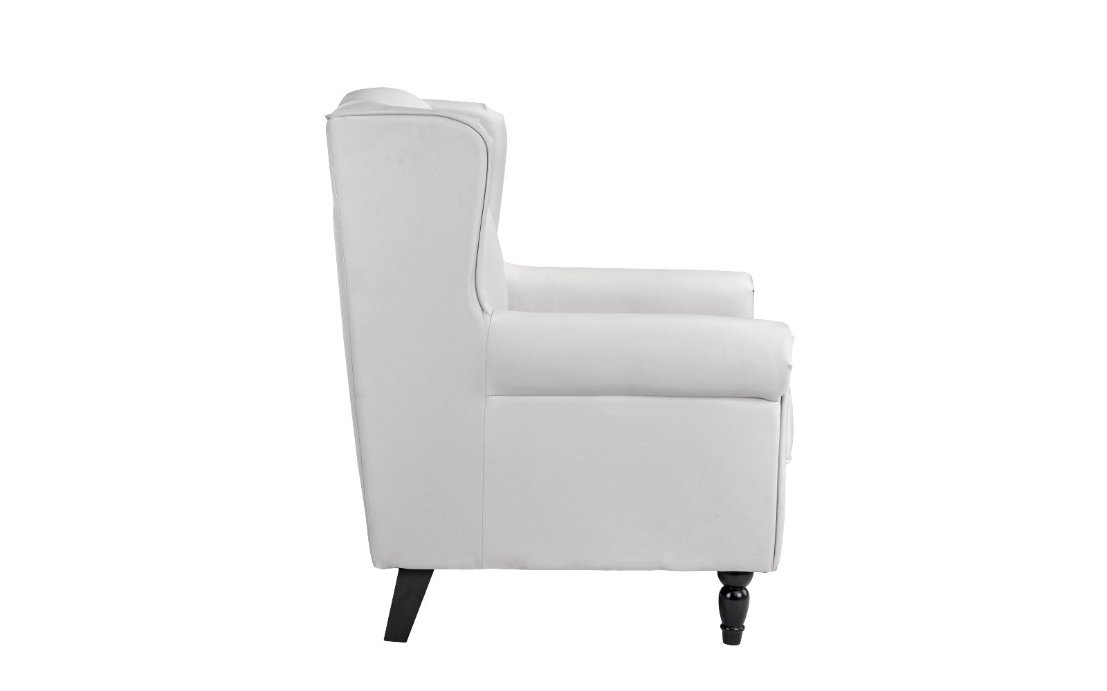 classic scroll arm faux leather accent chair living room armchair white 649862749582 ebay. Black Bedroom Furniture Sets. Home Design Ideas
