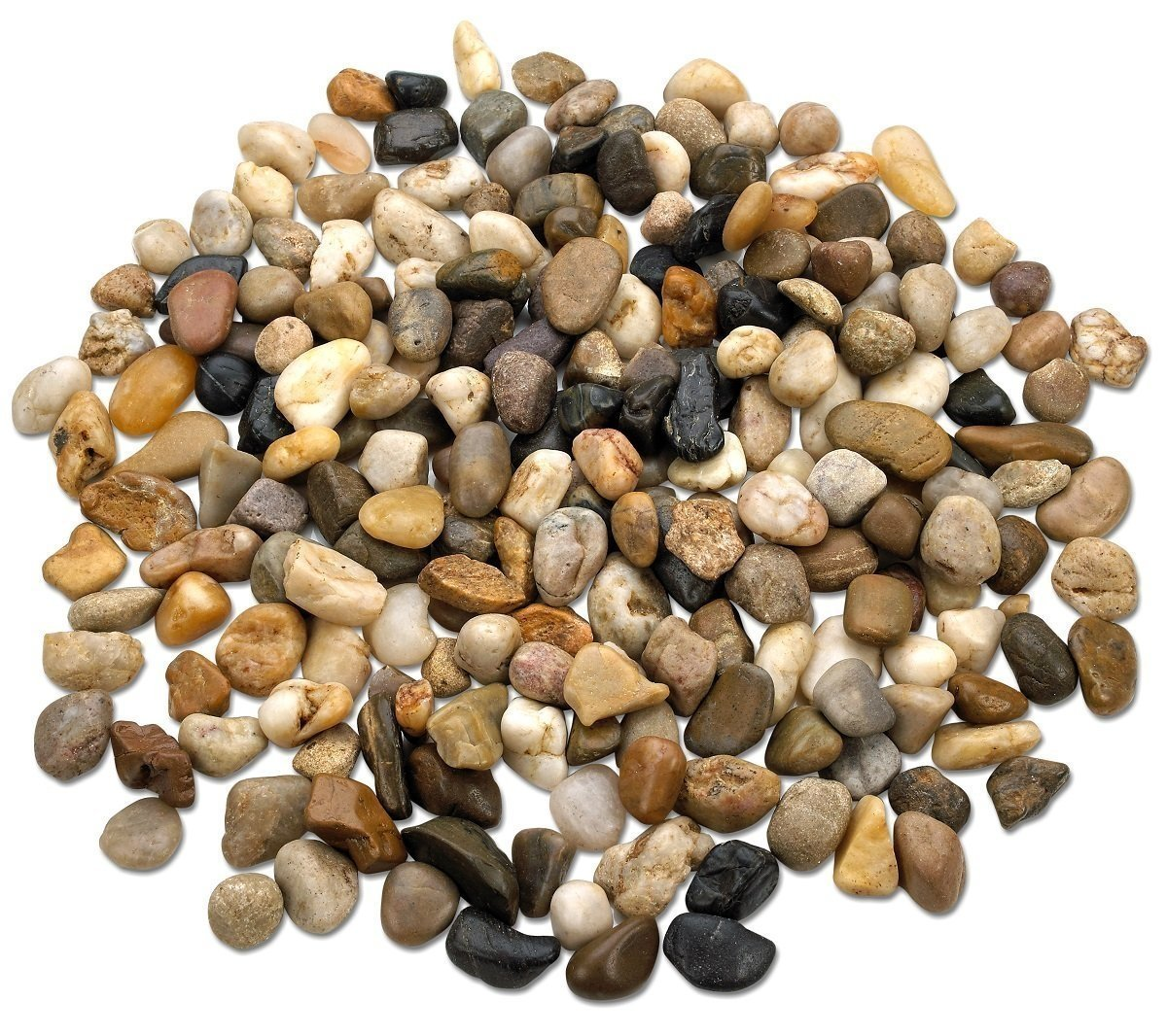 Details About 2 Pounds Large Decorative River Rock Stones Natural Polished Mixed Color Stone